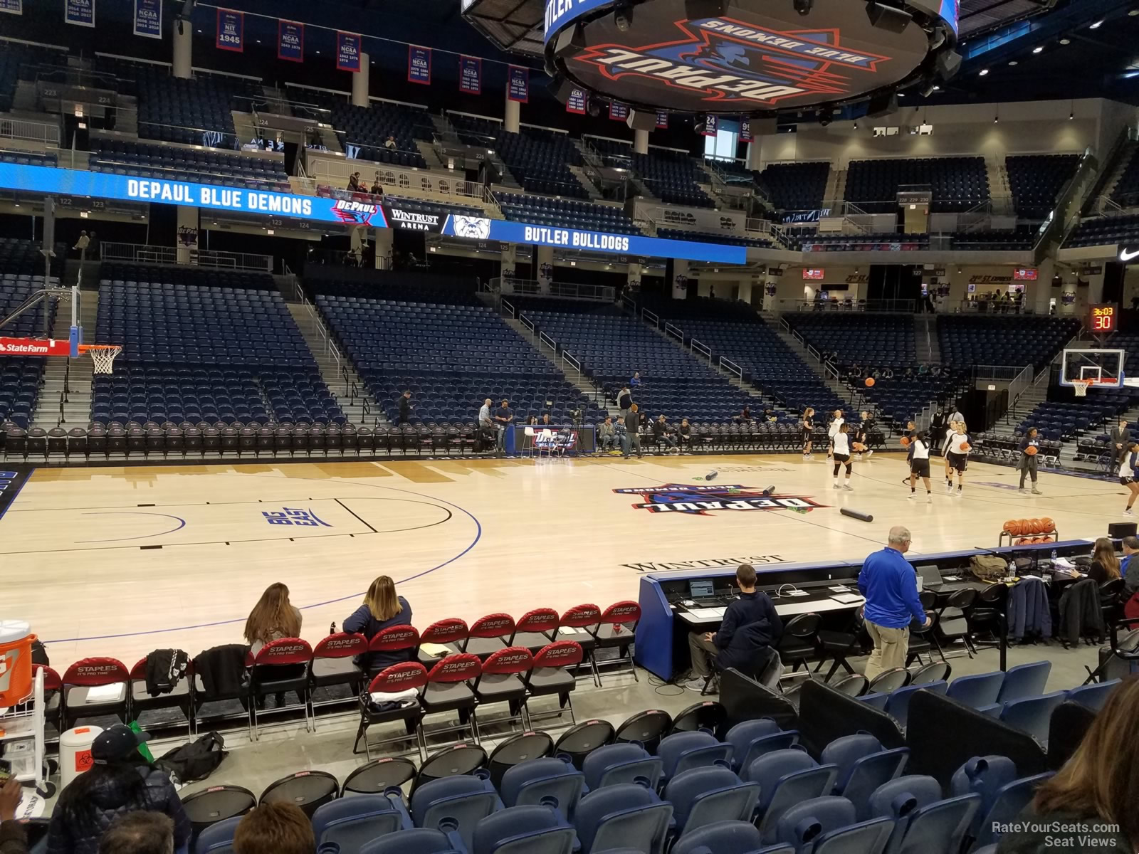 Seat View for Wintrust Arena Section 111, Row FF