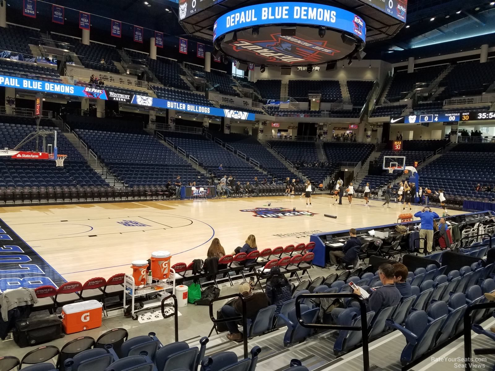 Seat View for Wintrust Arena Section 112, Row FF