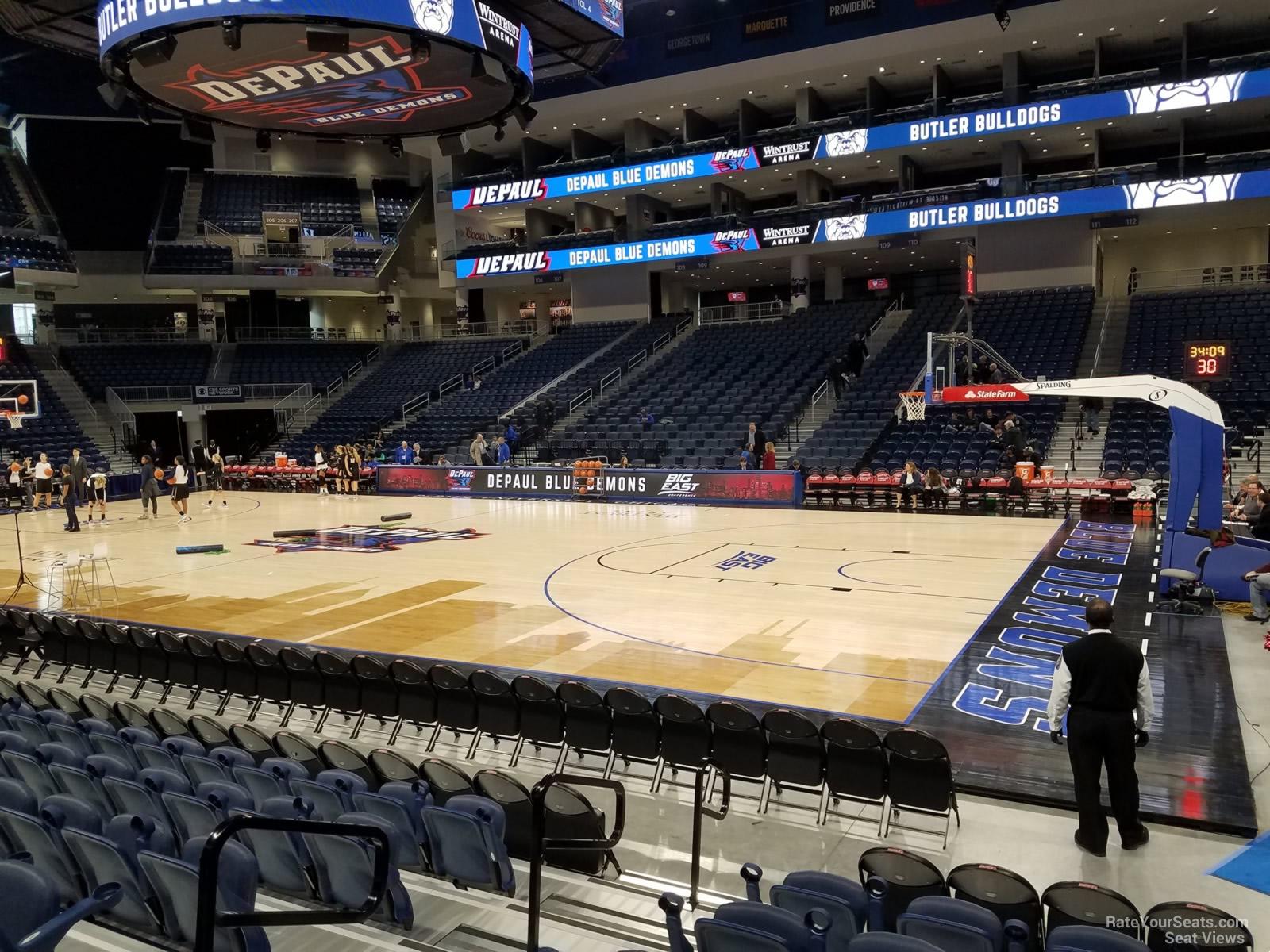 Exterior: Wintrust Arena Section 122