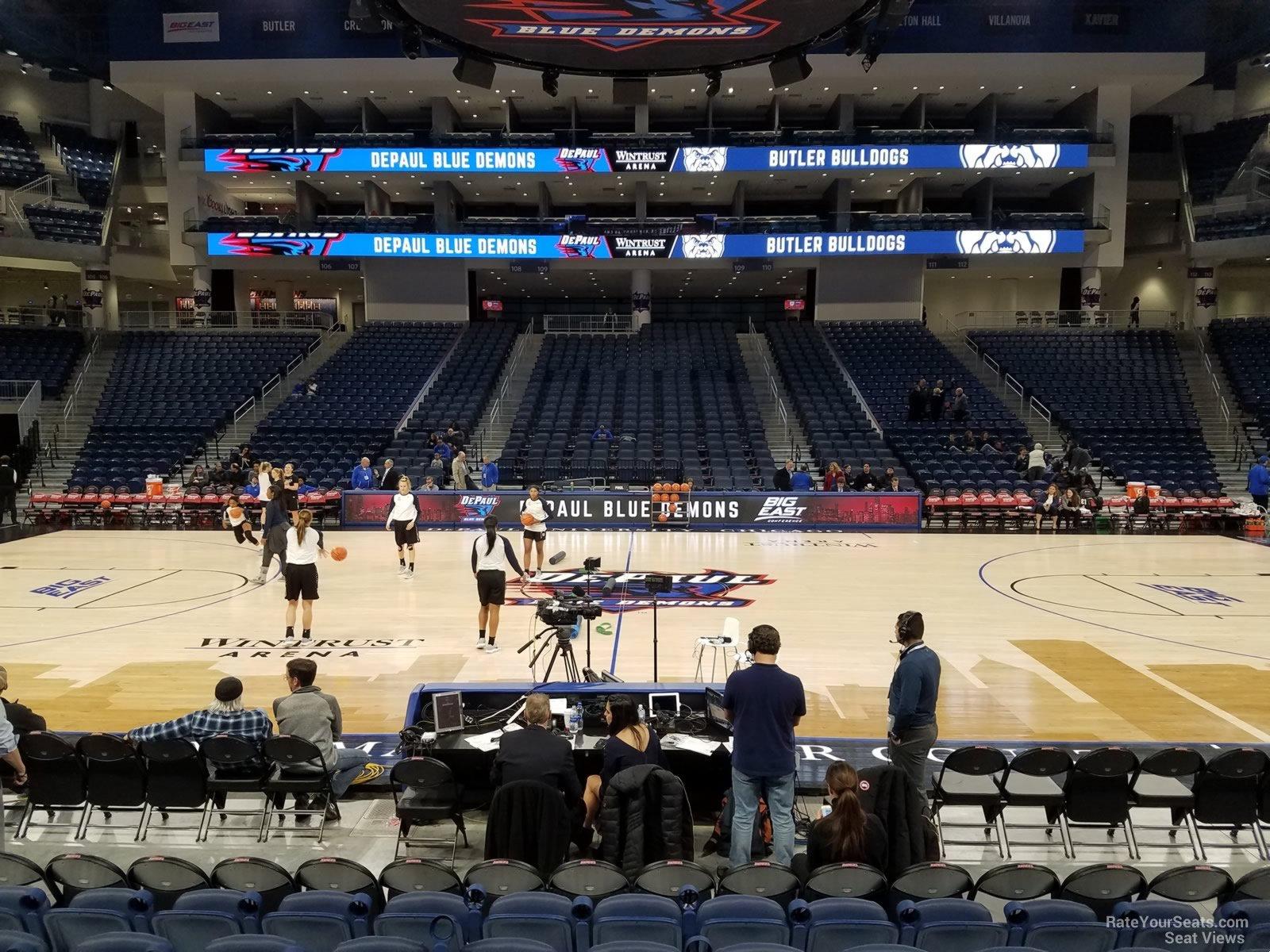 Exterior: Wintrust Arena Section 124