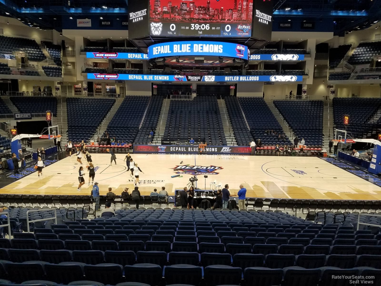 Seat View for Wintrust Arena Section 124, Row P