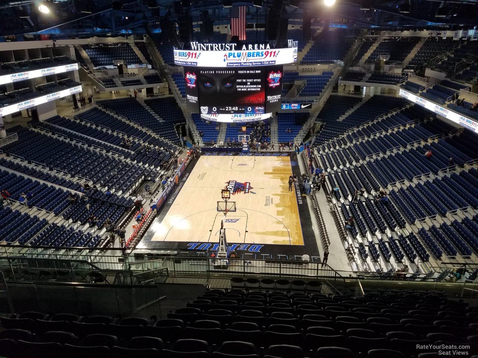 Exterior: Wintrust Arena Section 202