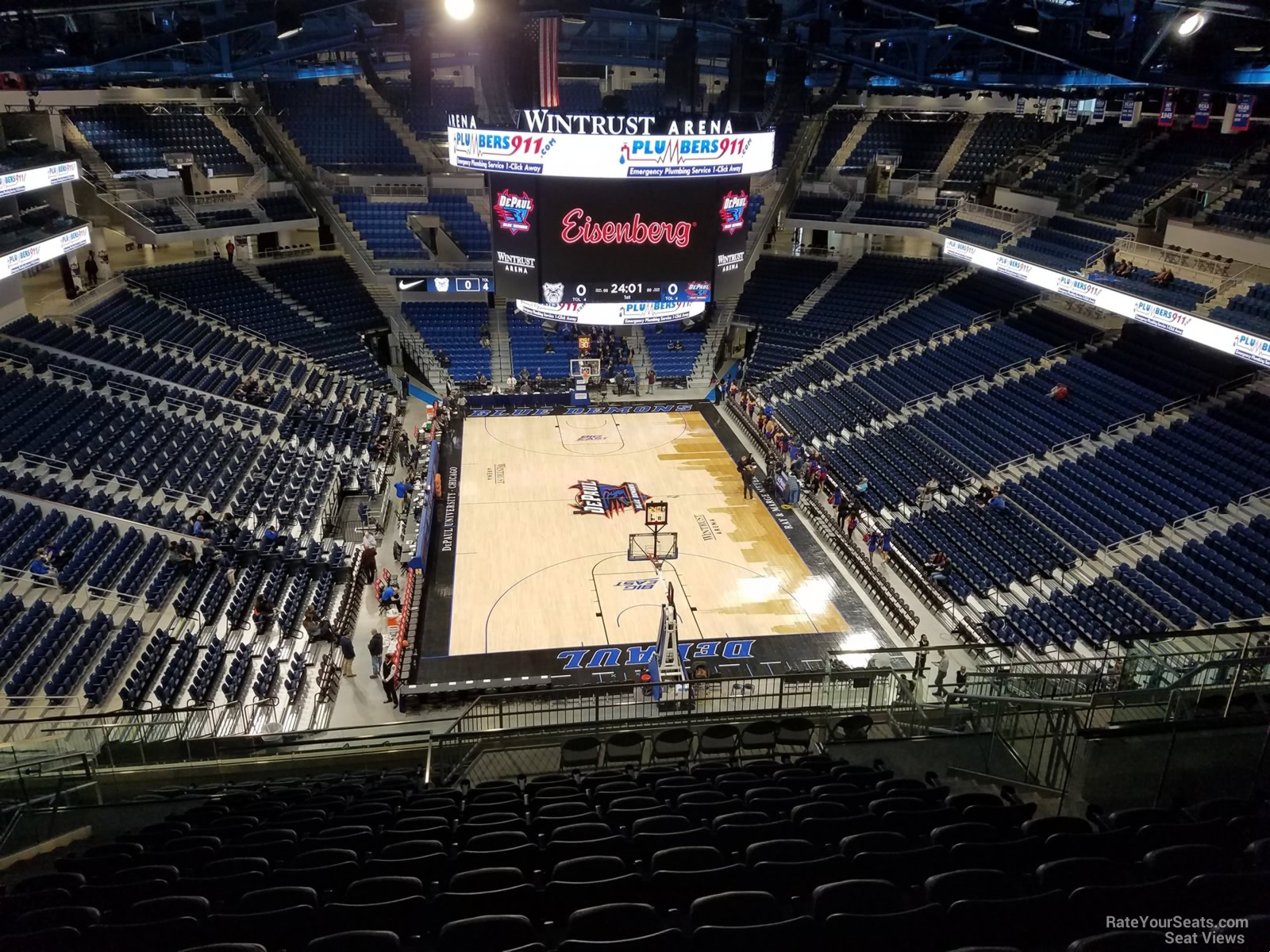 Exterior: Wintrust Arena Section 203