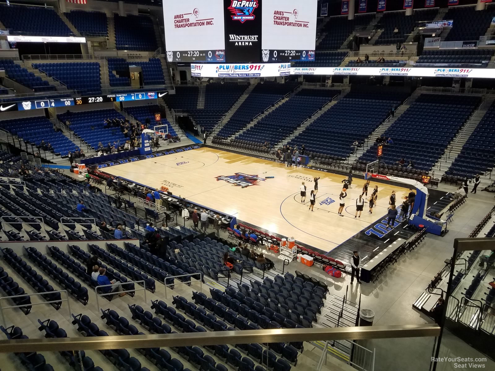 Seat View for Wintrust Arena Section 207, Row B