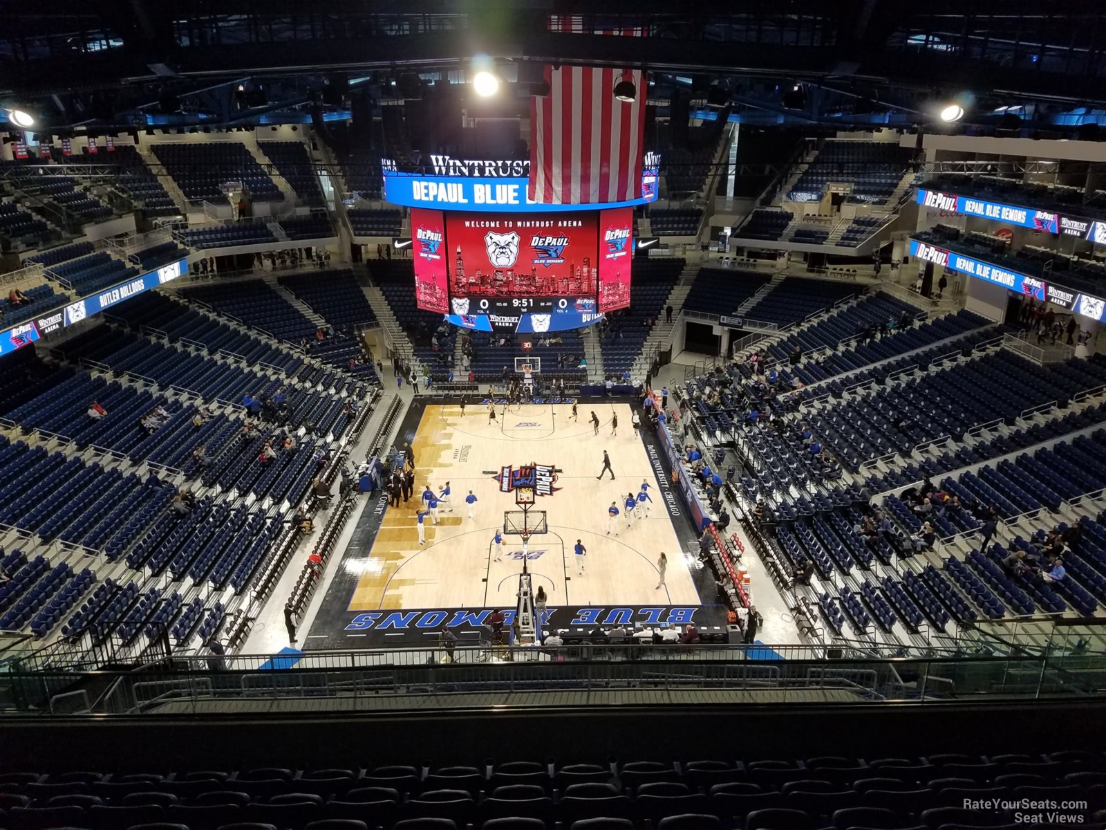 Seat View for Wintrust Arena Section 217, Row L