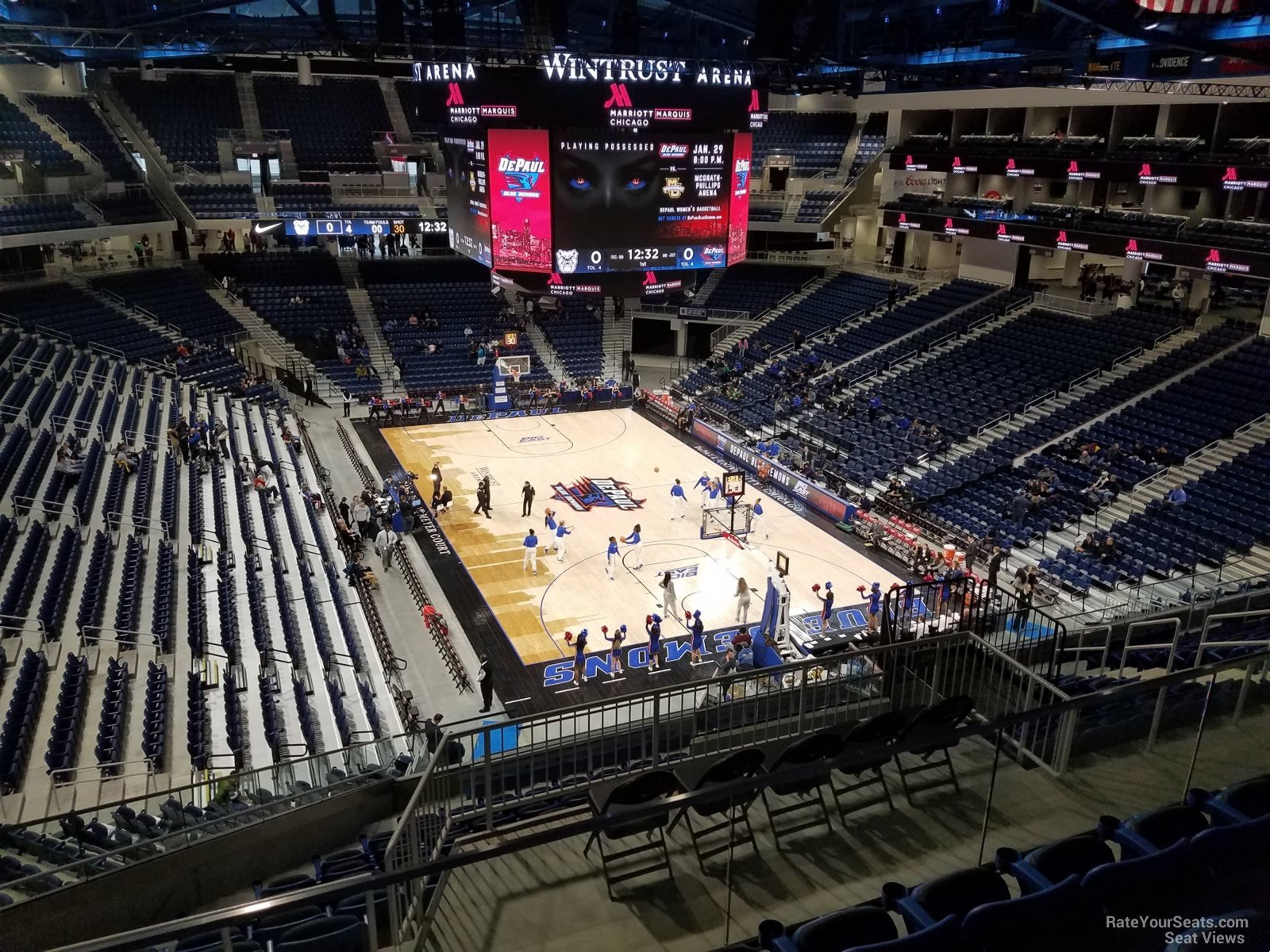 Seat View for Wintrust Arena Section 219, Row E