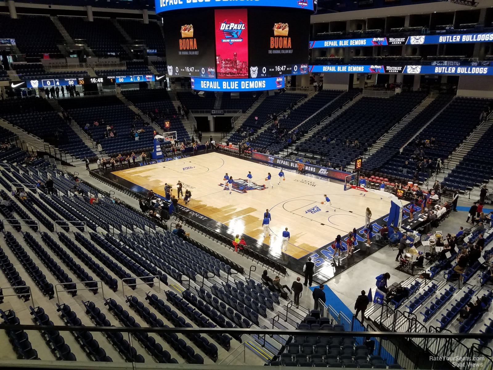 Seat View for Wintrust Arena Section 222, Row C