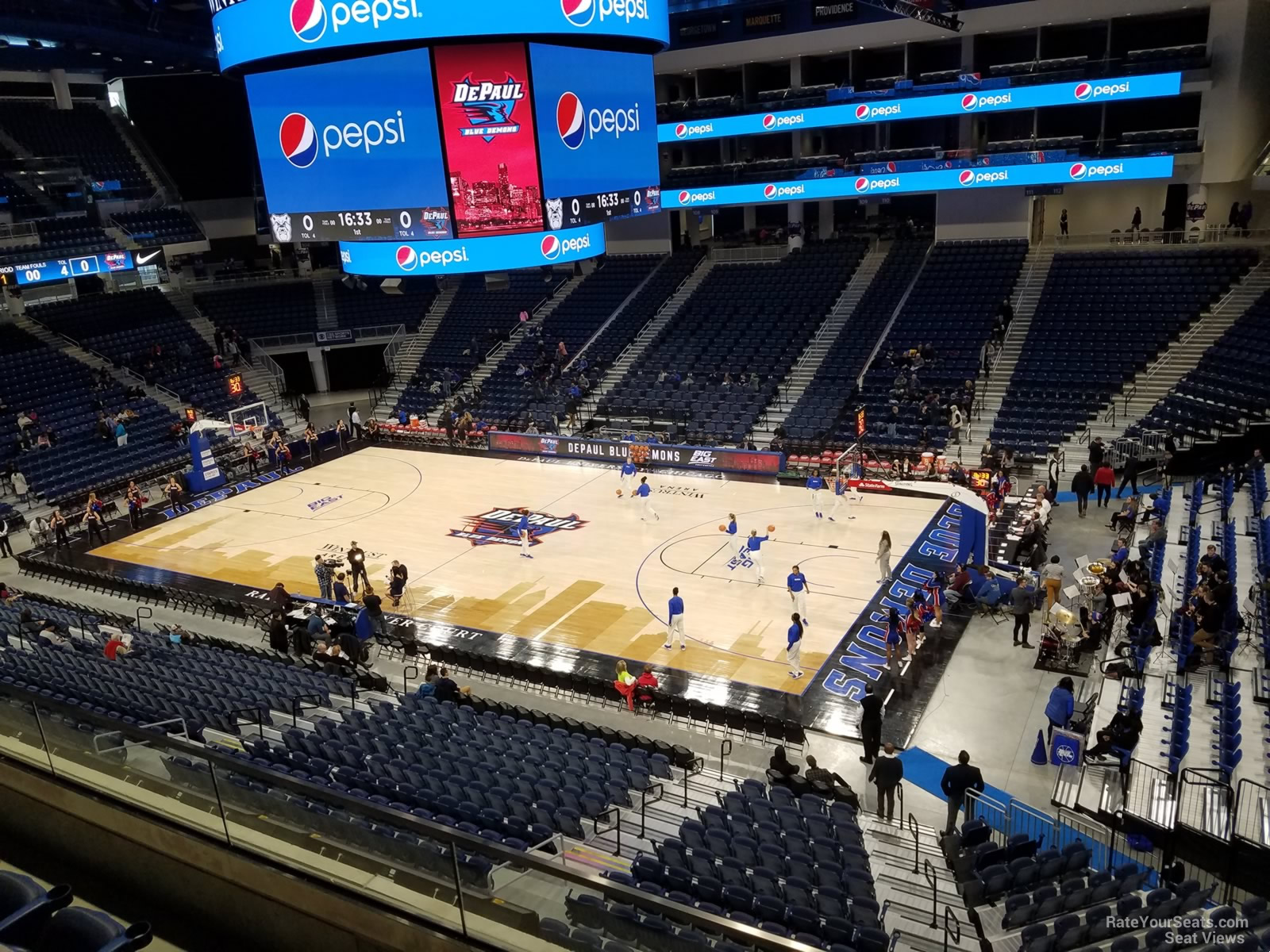 Seat View for Wintrust Arena Section 223