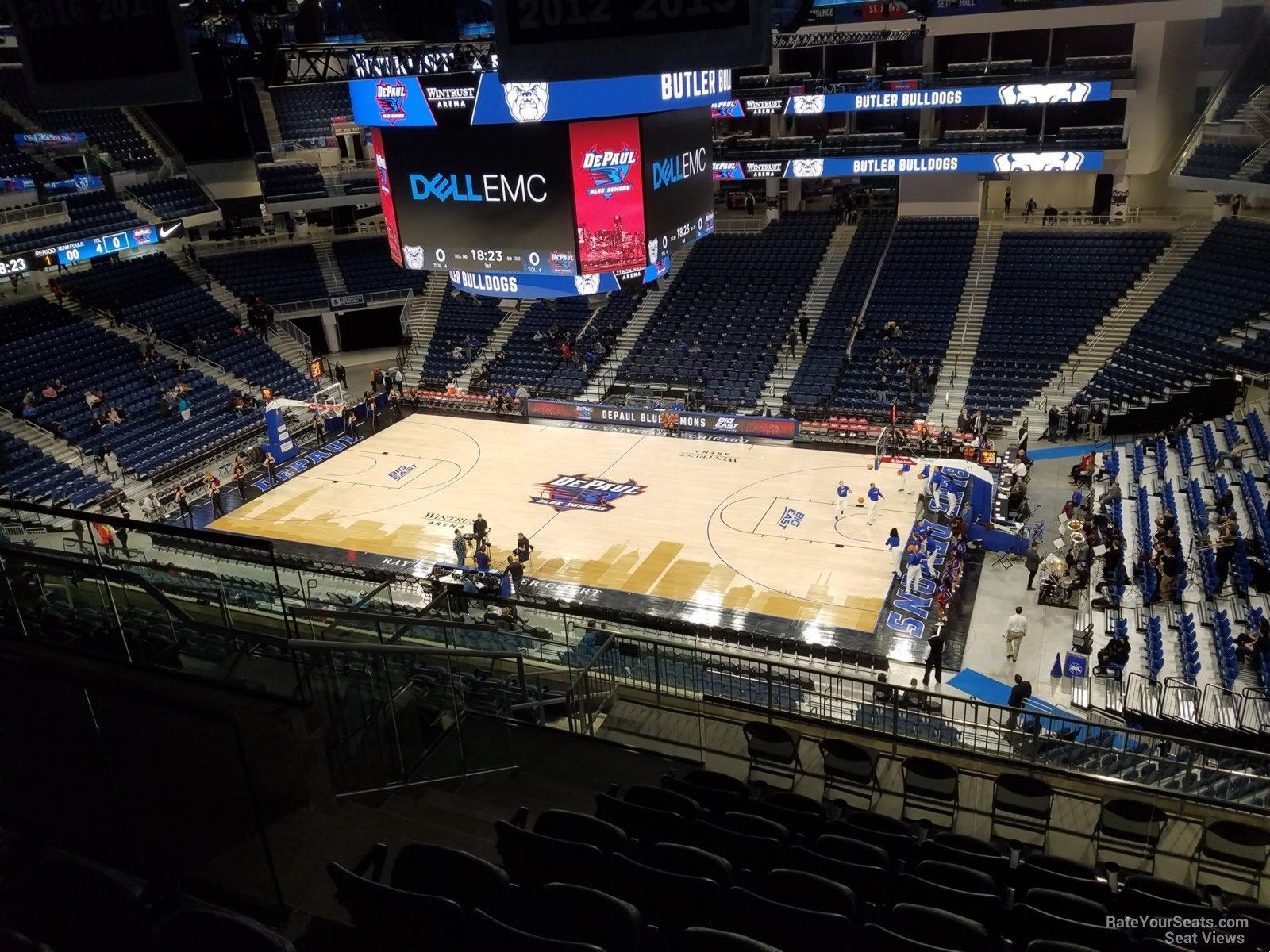 Wintrust Arena Section 223 Row M on 1 14 2018k