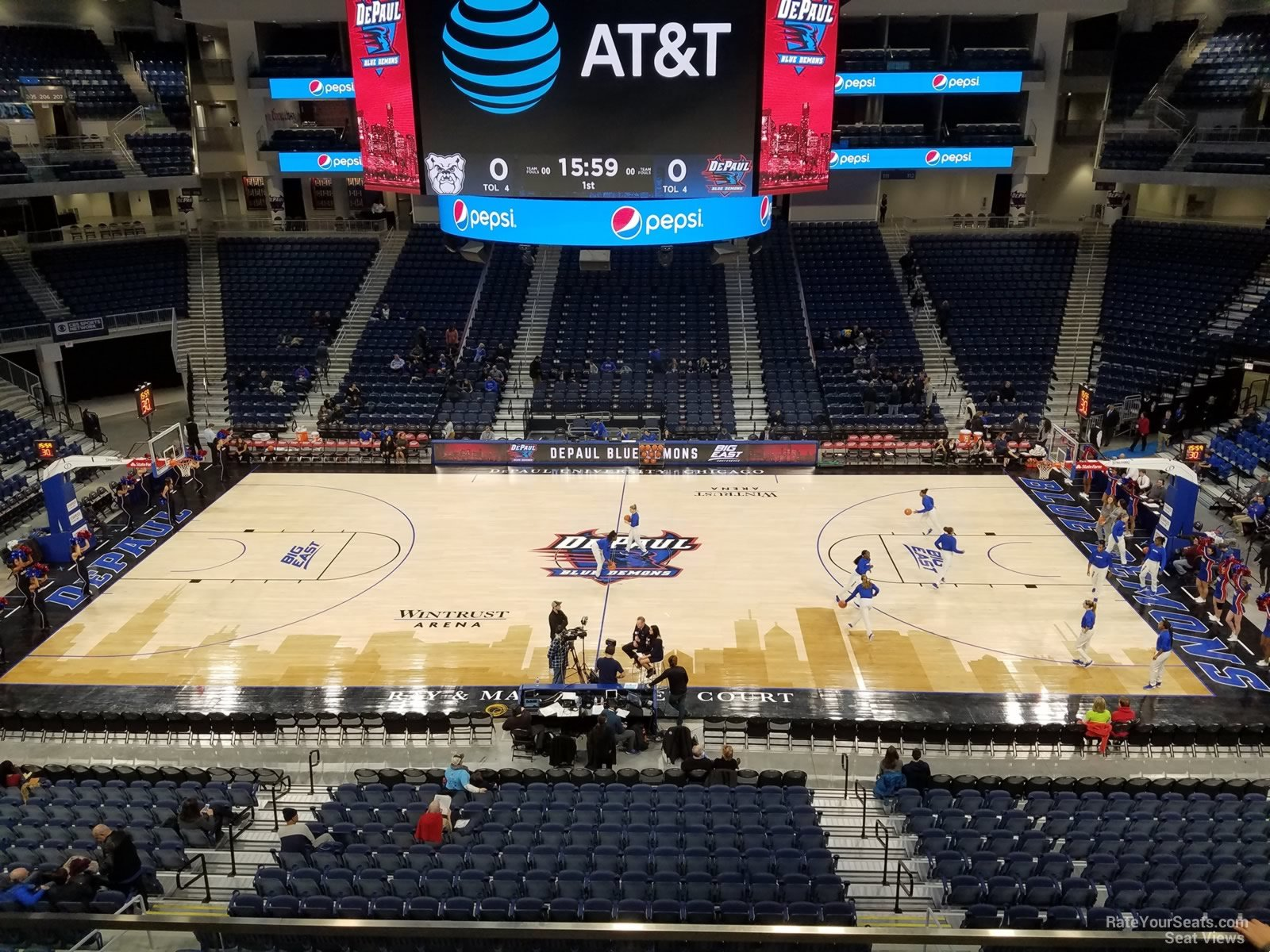 Seat View for Wintrust Arena Section 225, Row C