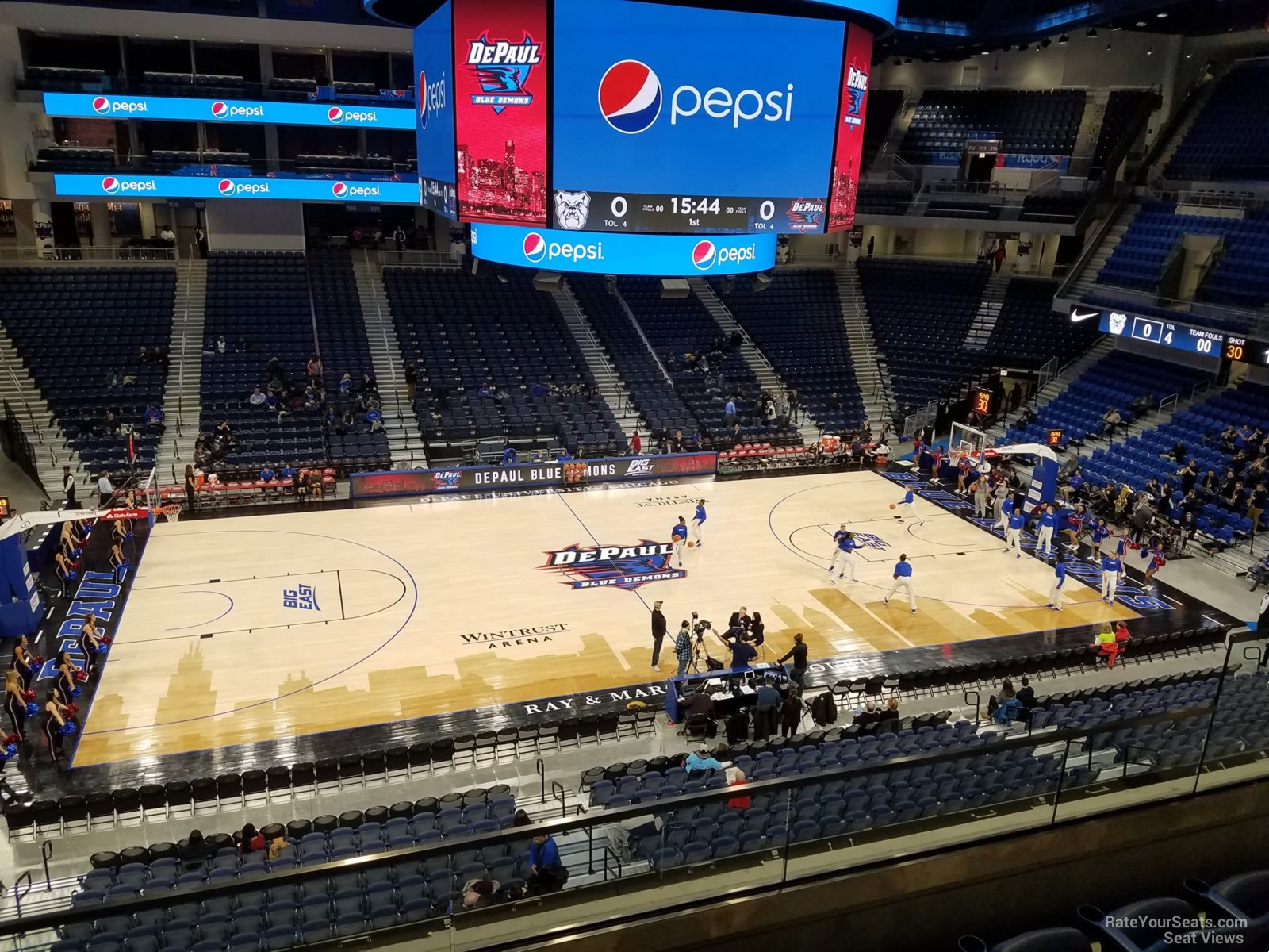 Seat View for Wintrust Arena Section 226, Row C