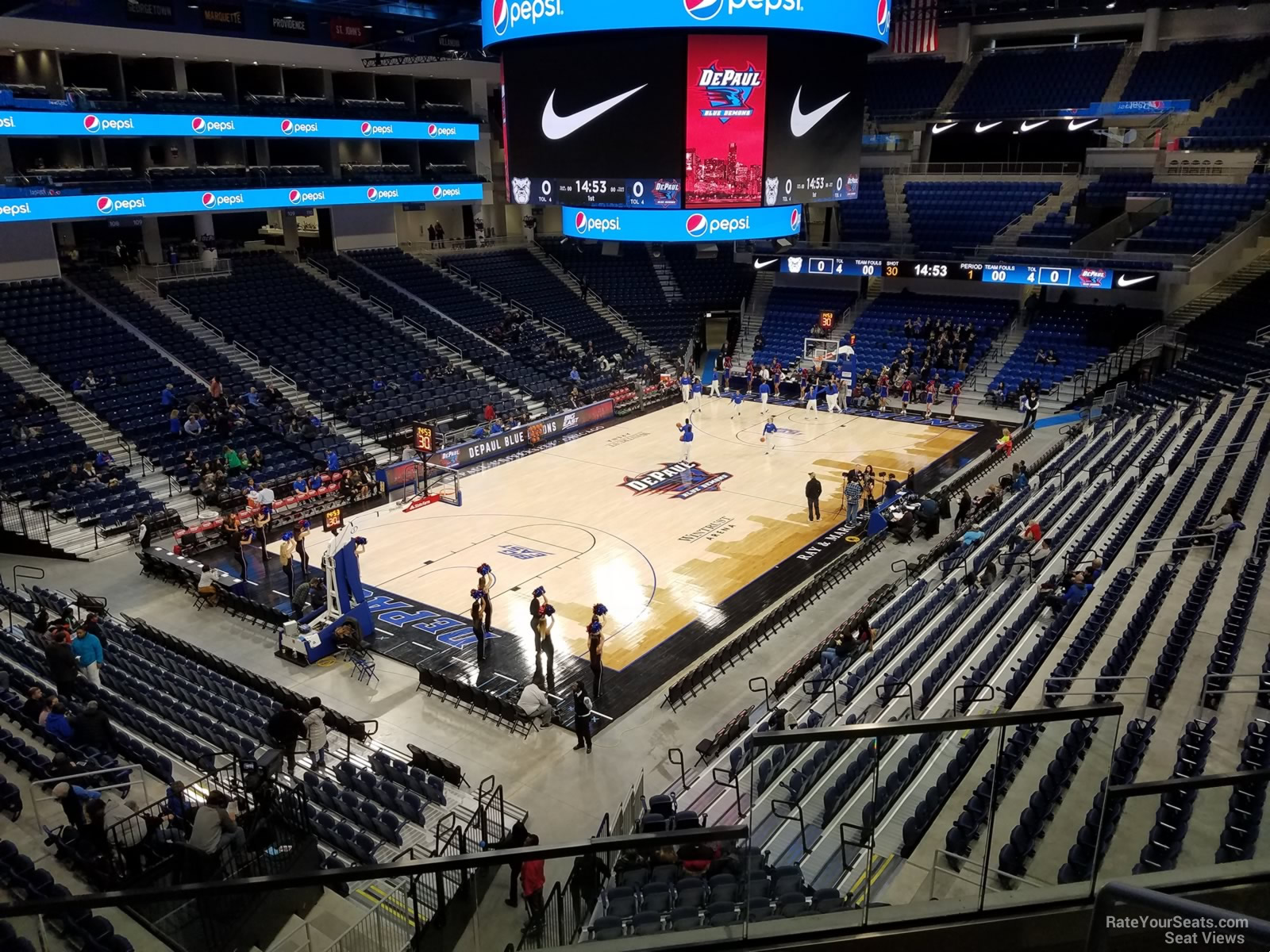 Seat View for Wintrust Arena Section 230, Row C