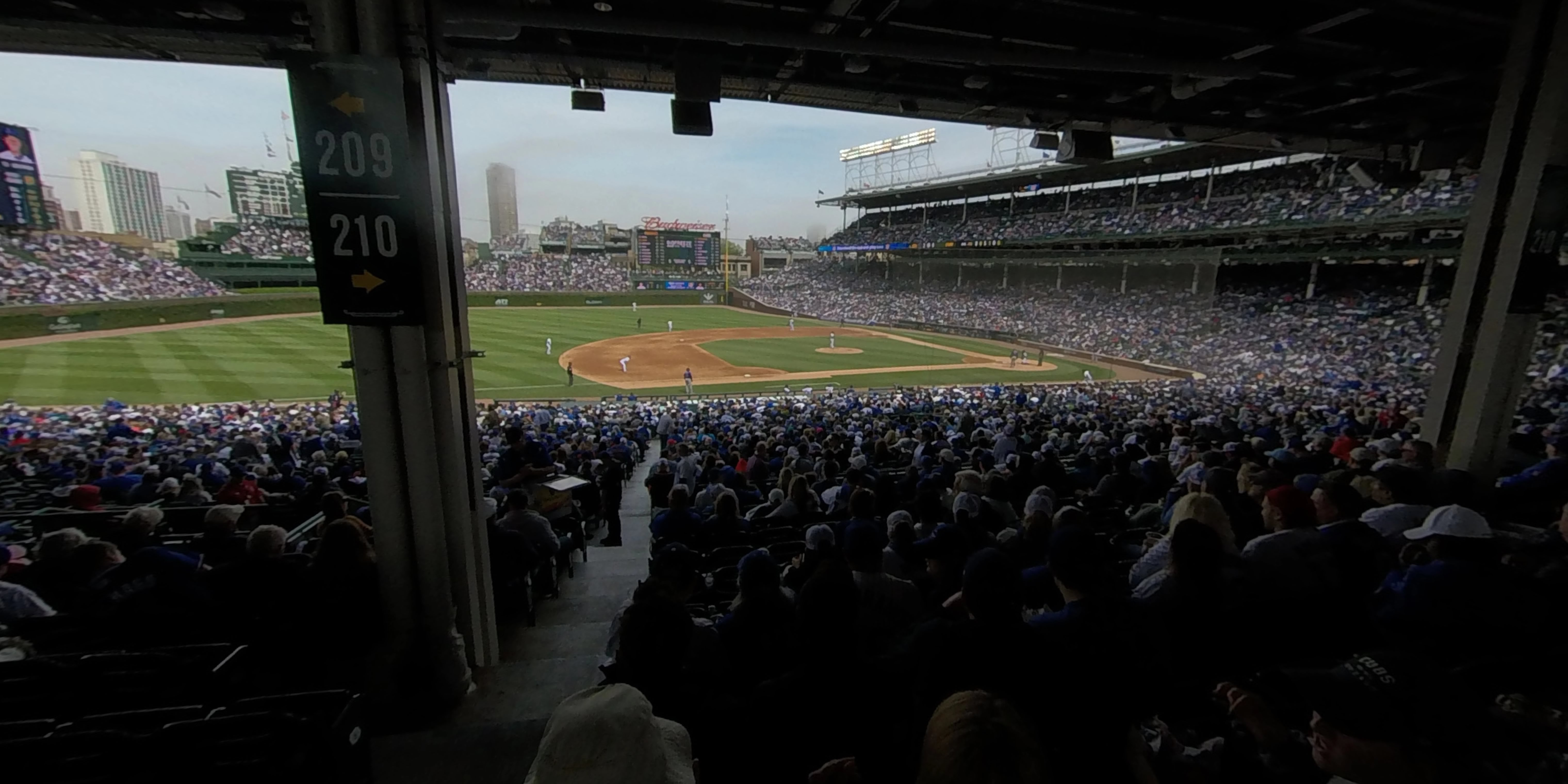 360° Photo From Wrigley Field Section 209
