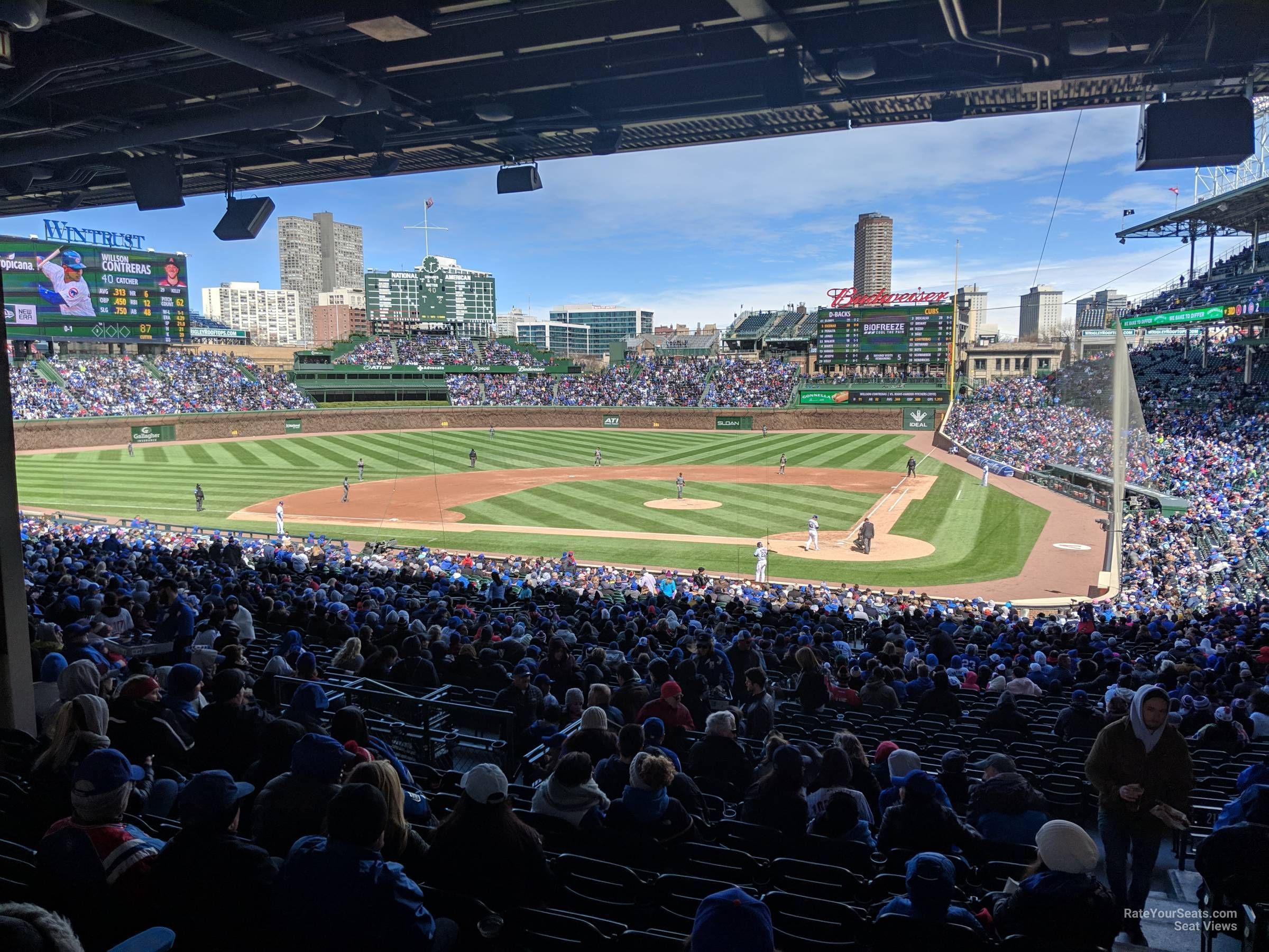 Wrigley Field Section 214 - Chicago Cubs - RateYourSeats.com