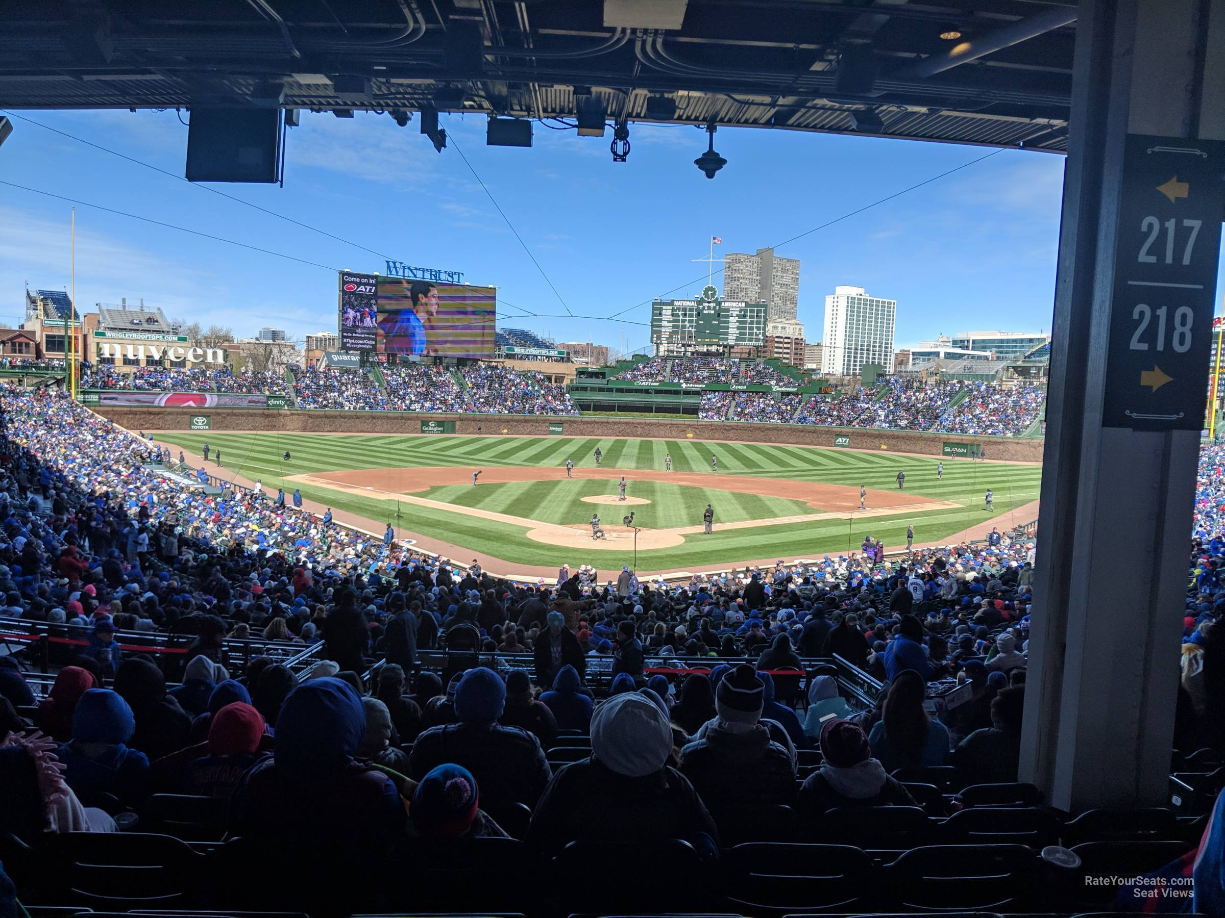 Seat View for Wrigley Field Section 217, Row 12