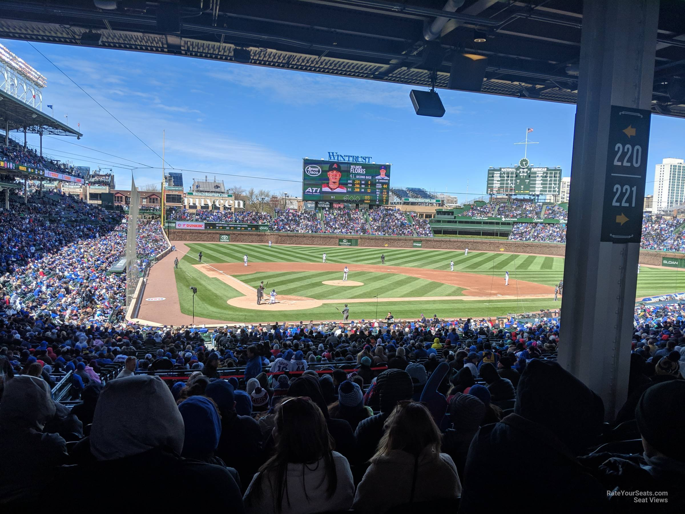 Seat View for Wrigley Field Section 220, Row 12