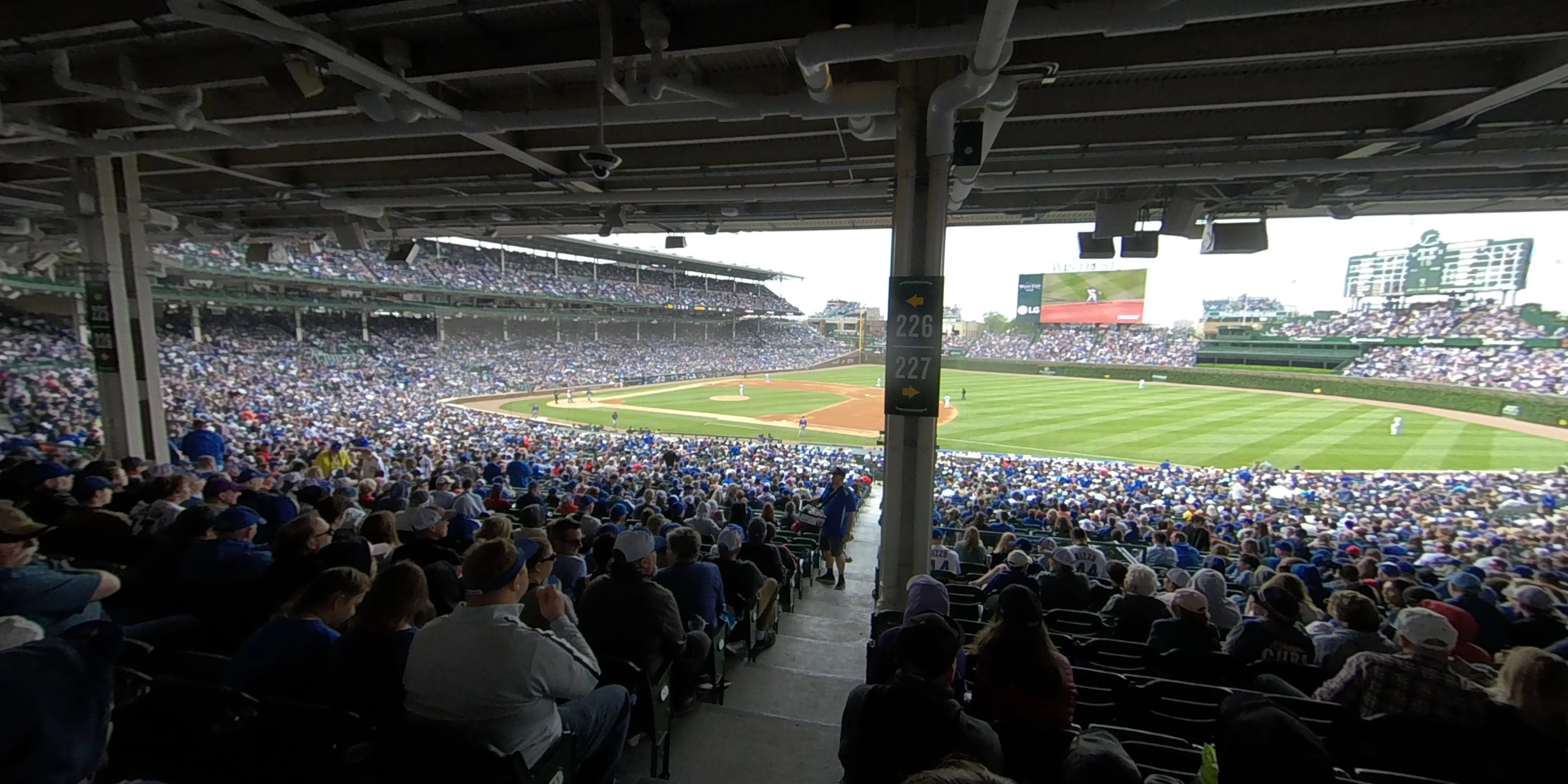 360° Photo From Wrigley Field Section 227