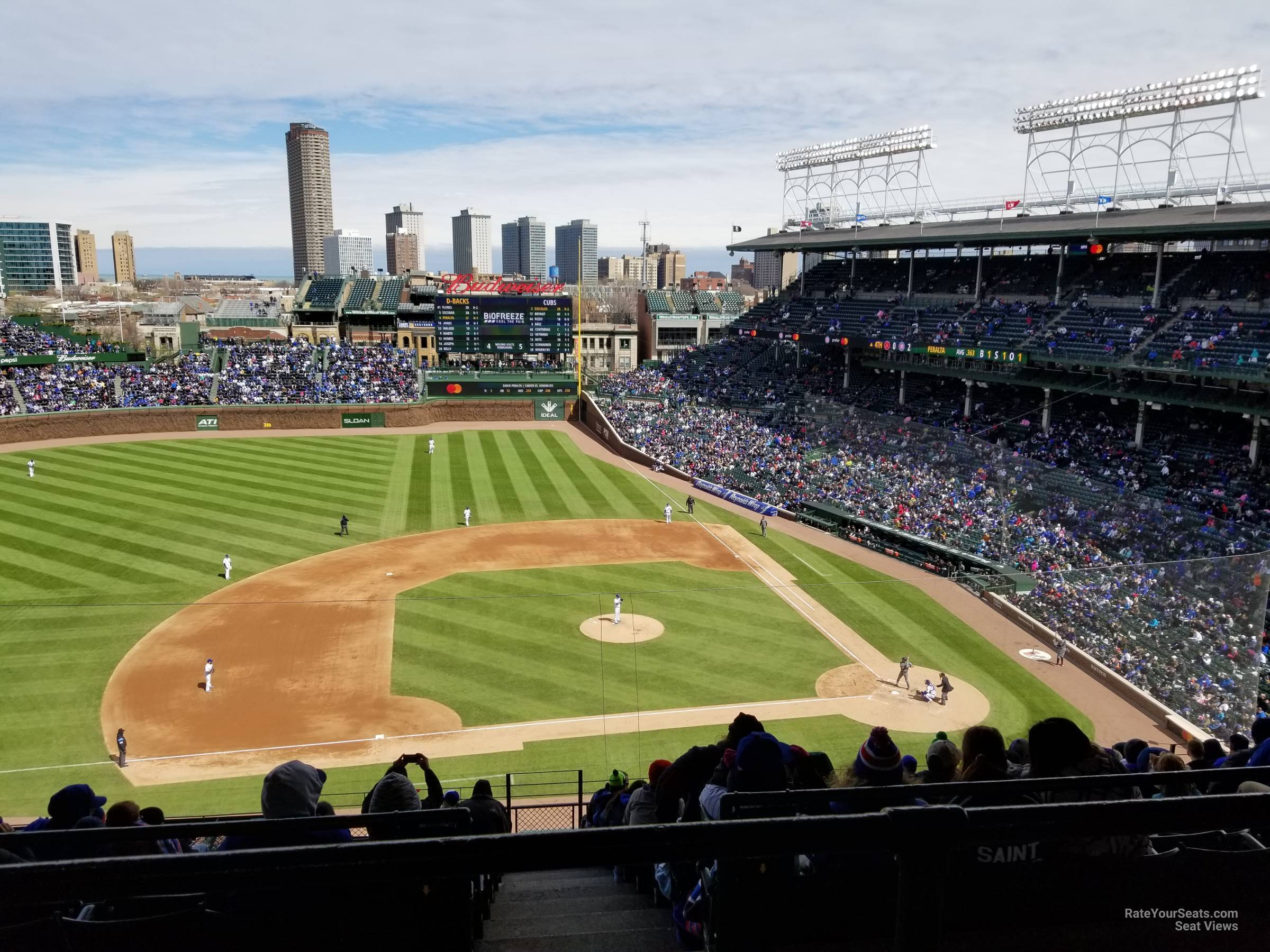 Wrigley Field Section 411 Chicago Cubs Rateyourseats Com