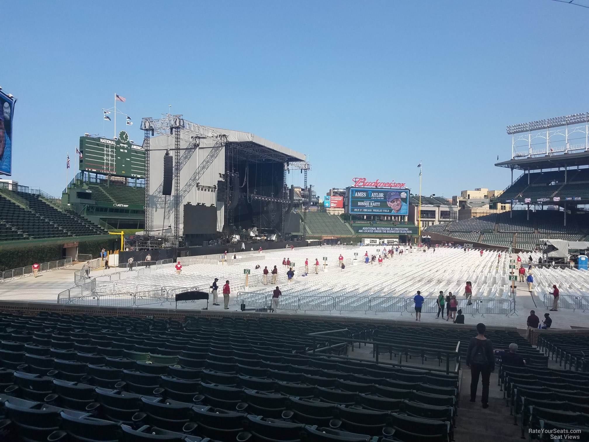 Concert Seat View for Wrigley Field Section 103, Row 15, Seat 101