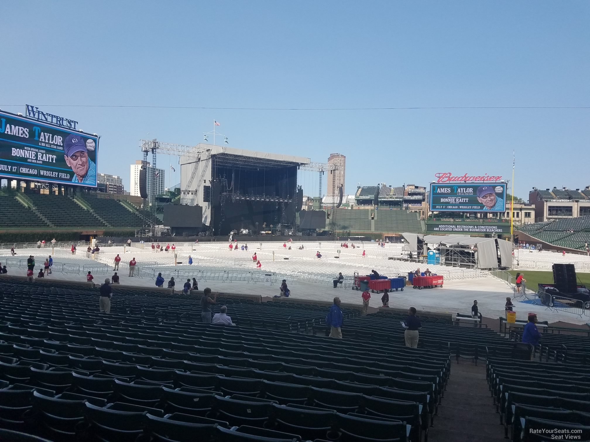 Concert Seat View For Wrigley Field Section 109 Row 15
