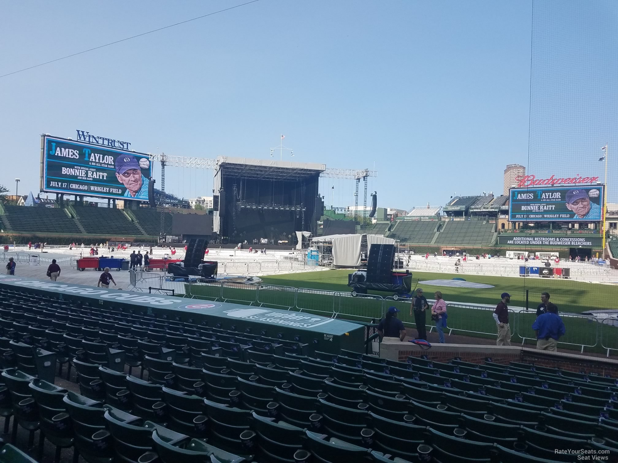 Concert Seat View for Wrigley Field Section 14, Row 10