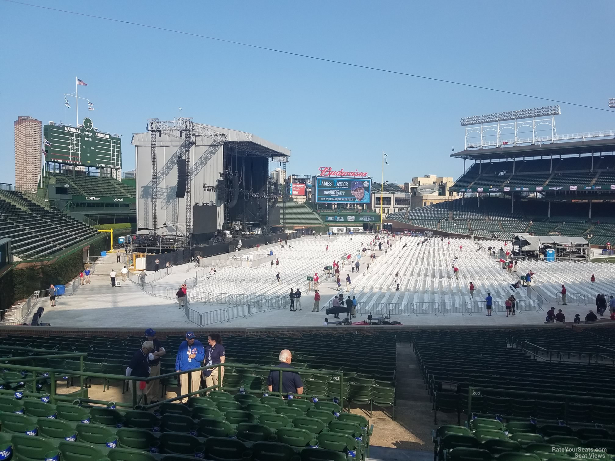 Concert Seat View for Wrigley Field Section 202 Row 11
