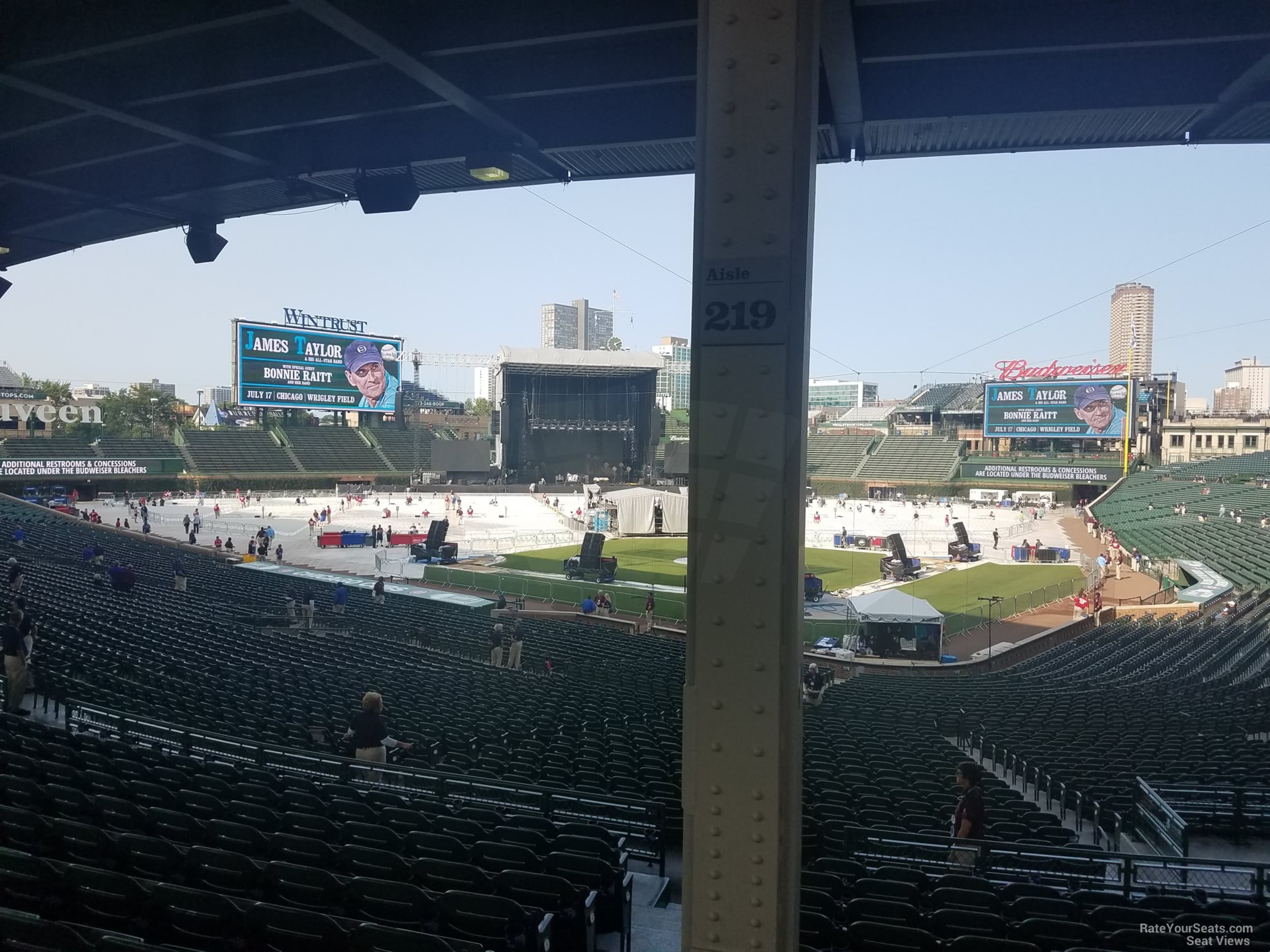 Concert Seat View for Wrigley Field Section 219 Row 11