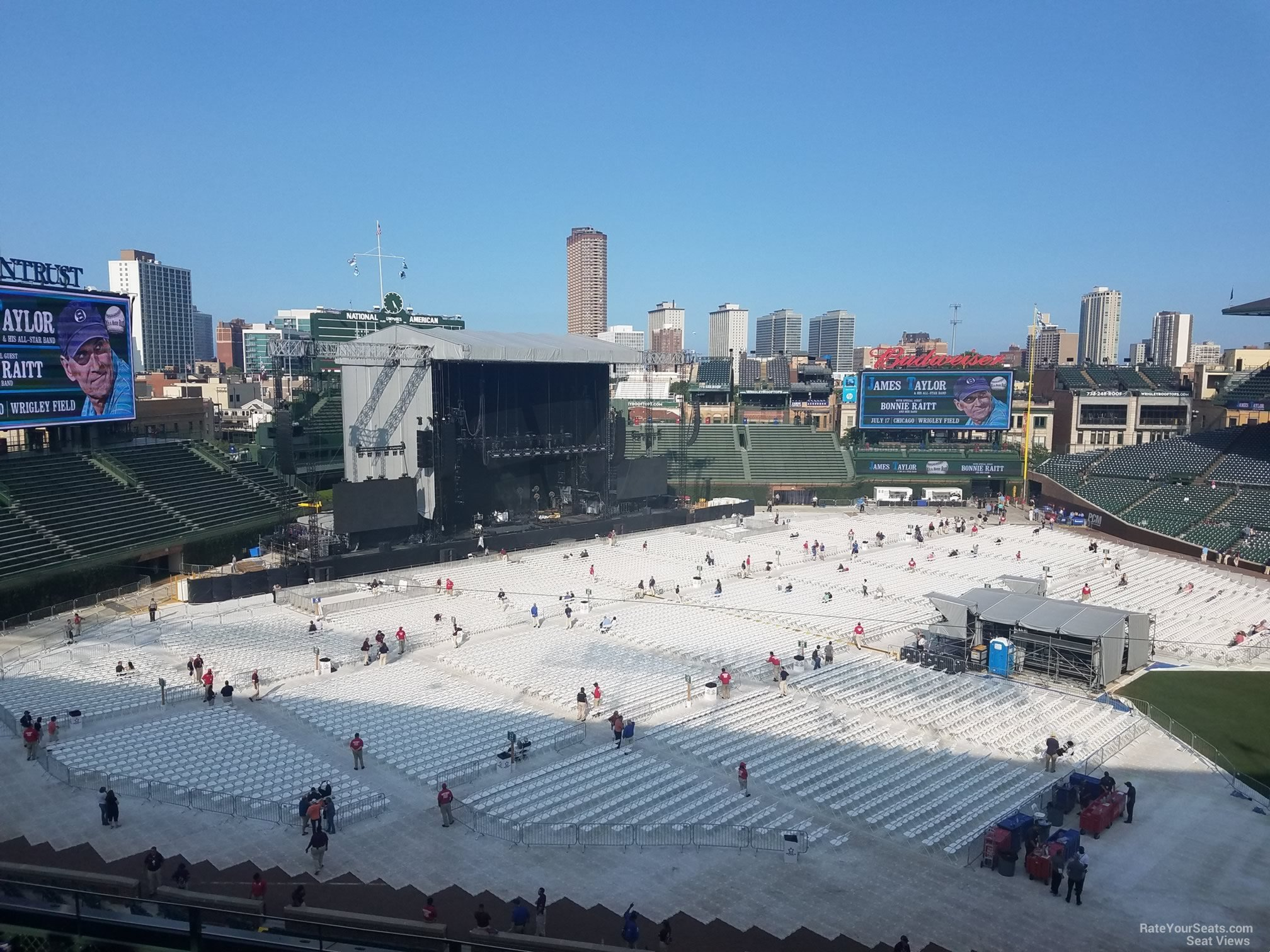 Concert Seat View for Wrigley Field Section 308, Row 7