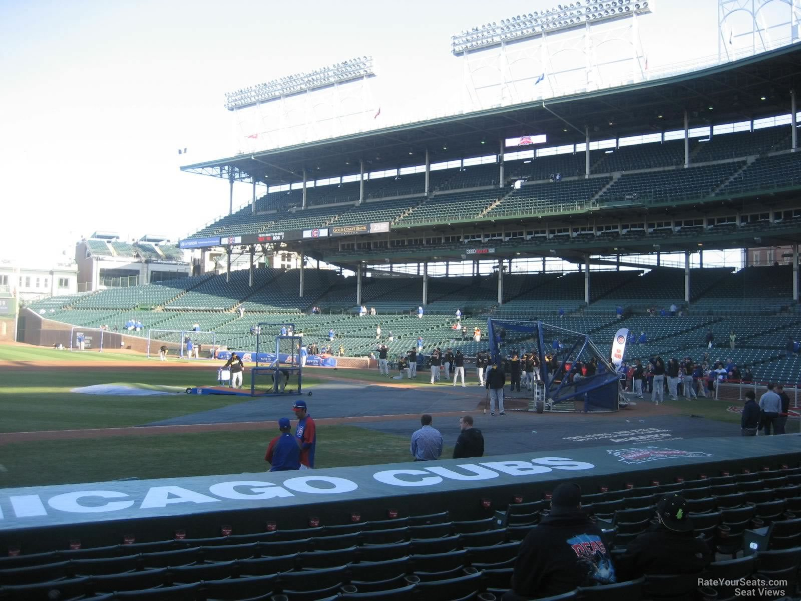 Seat View from Section 12 Row 10 at Wrigley Field
