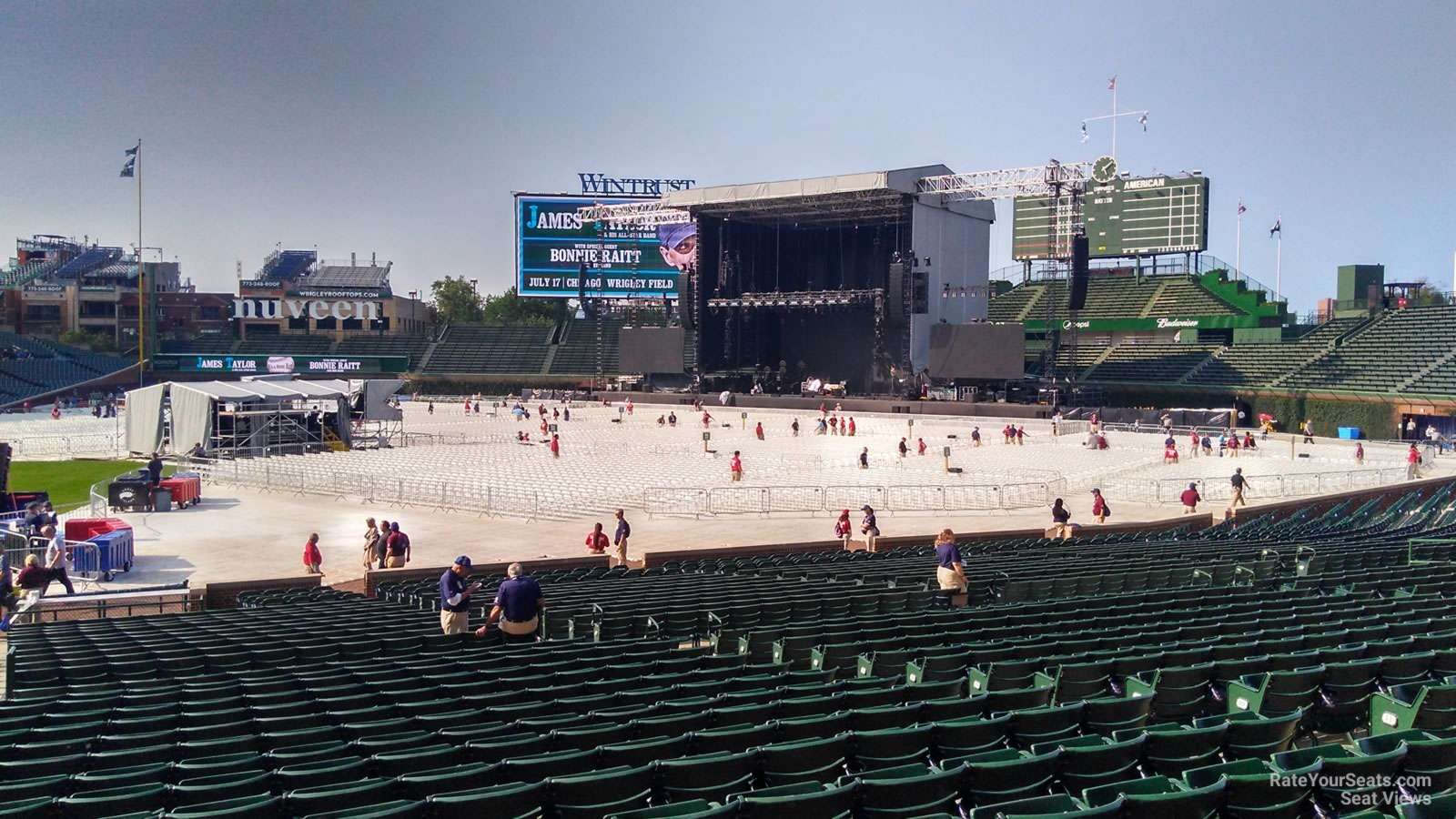 Pearl Jam Wrigley Seating Chart The Sky I Scrape August