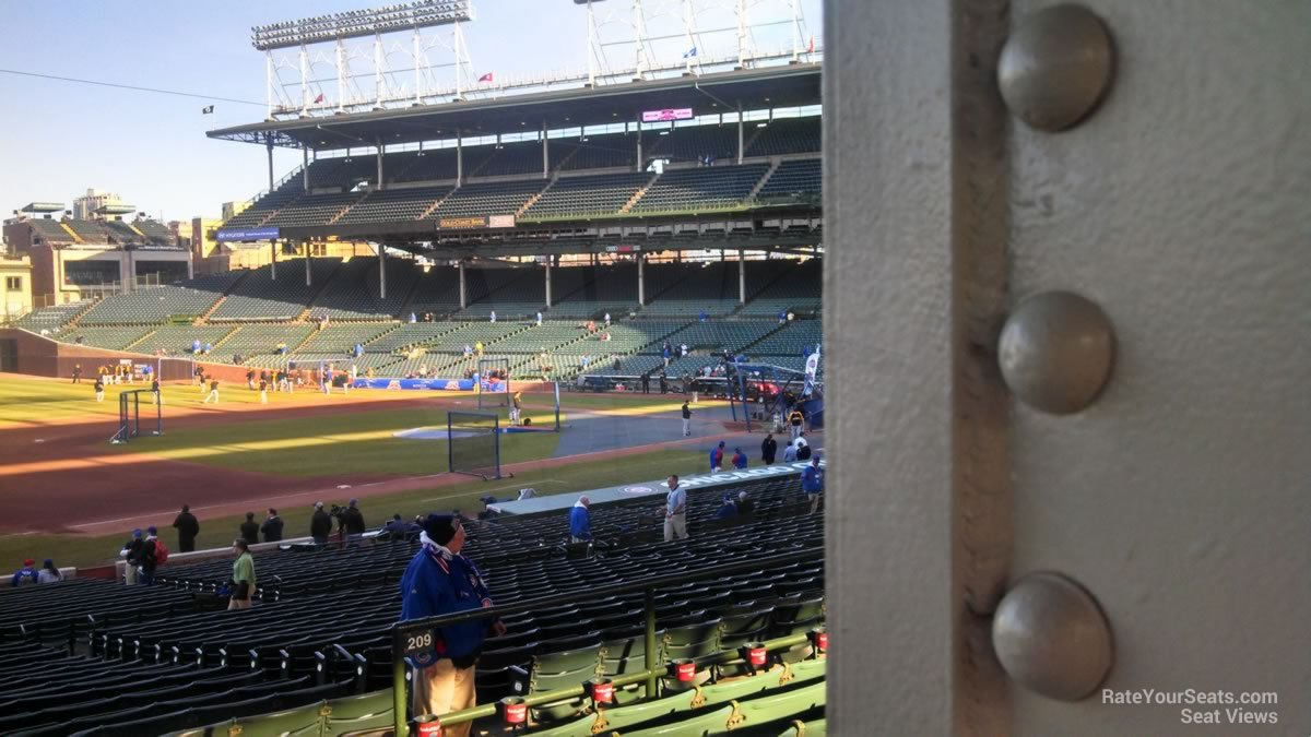 Chicago Cubs - Wrigley Field Section 209 - RateYourSeats.com