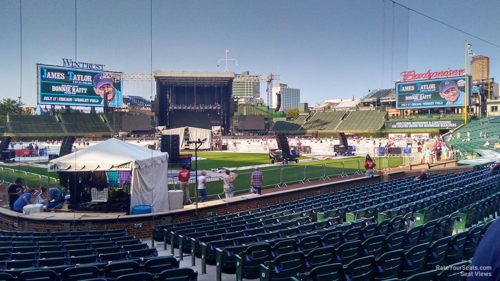 Concert Seat View for Wrigley Field Section 18, Row 10