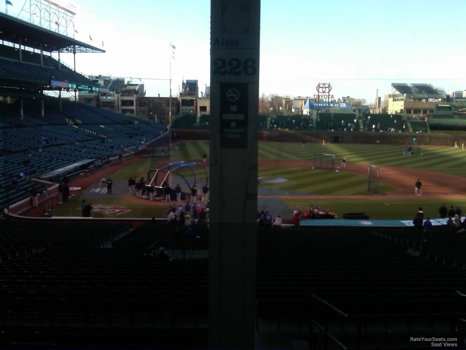 Seat View for Wrigley Field Section 226 Row 9
