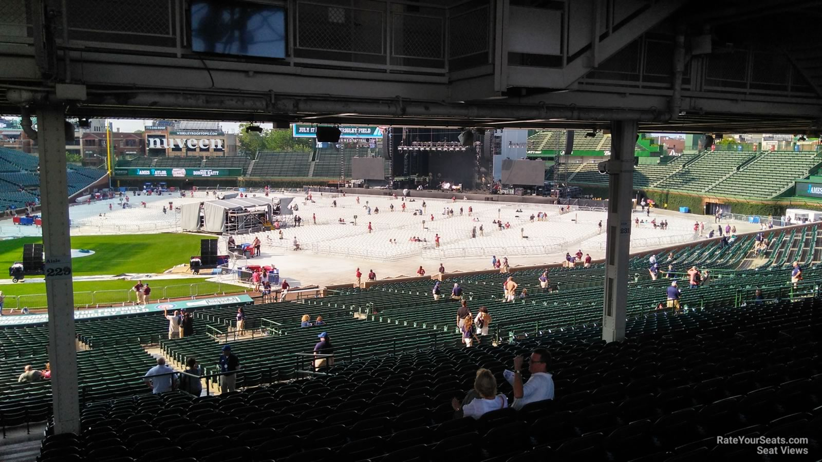 Concert Seat View for Wrigley Field Section 223, Row 20