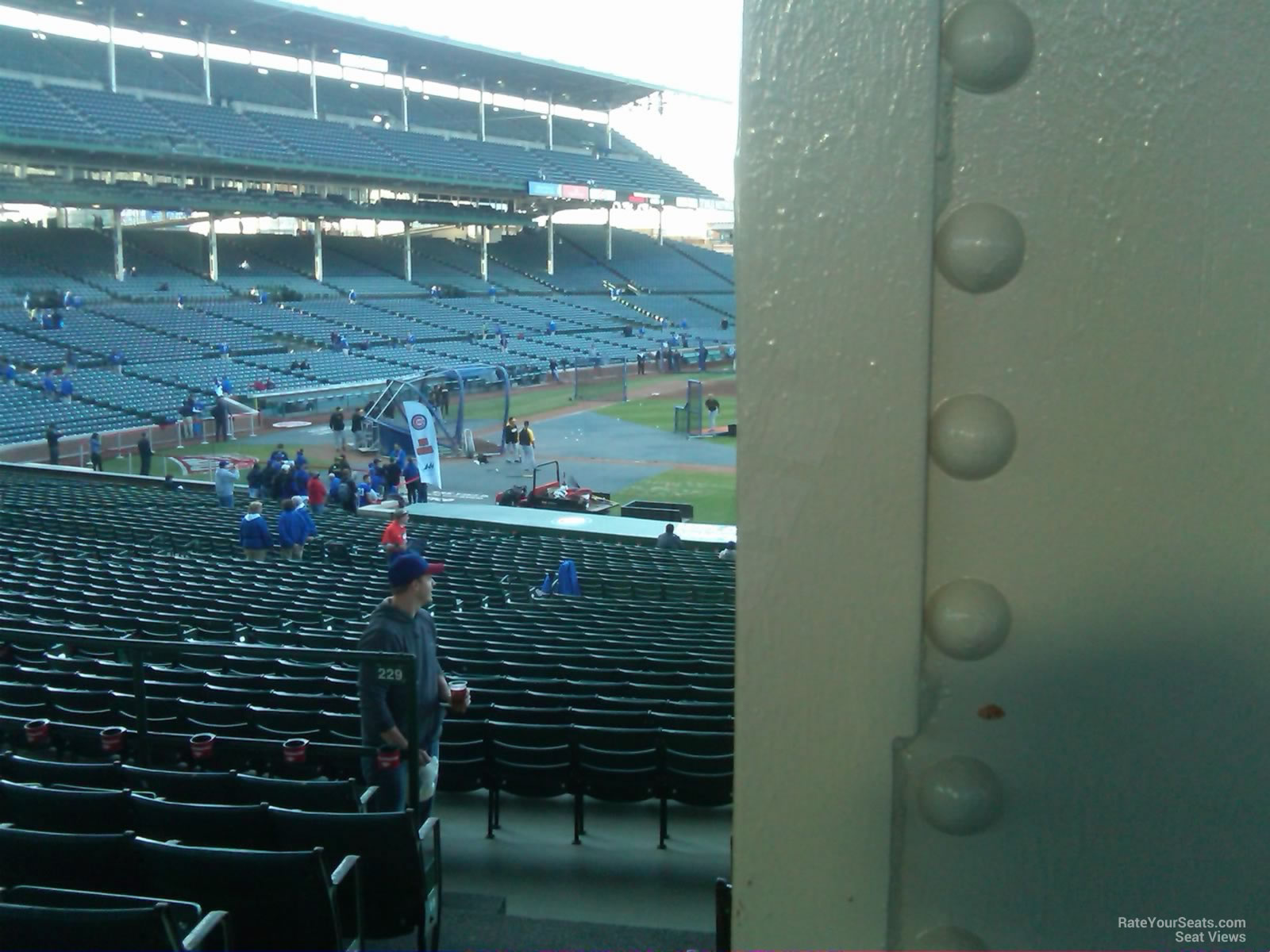 Wrigley Field Section 229 Row 7 Seat 1 1 on 4 9 2014 S