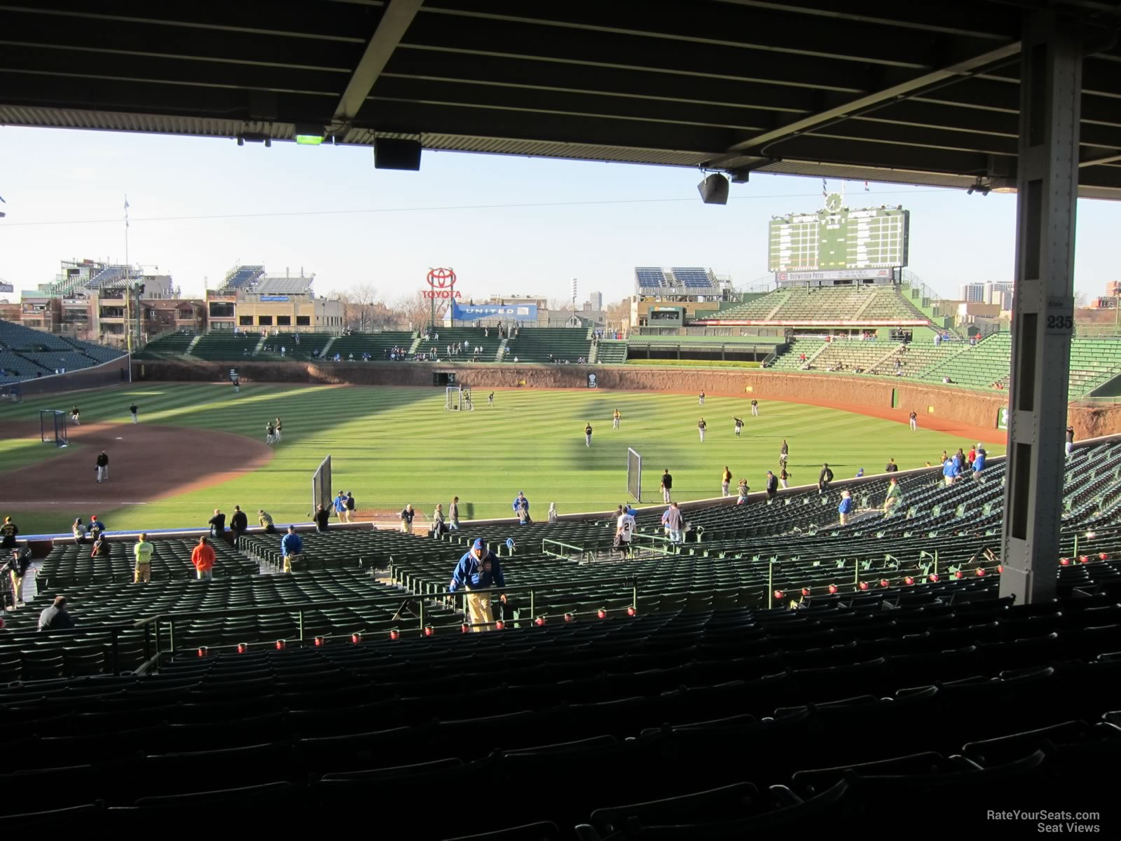 Wrigley Field Section 233 - Chicago Cubs - RateYourSeats.com