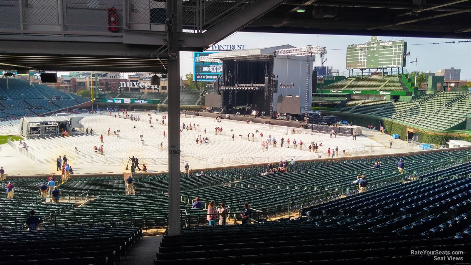 Concert Seat View For Wrigley Field Section 228