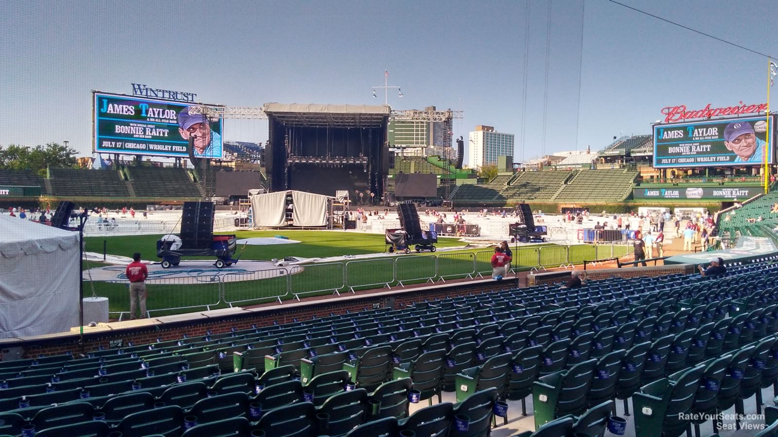 Concert Seat View for Wrigley Field Section 19, Row 10