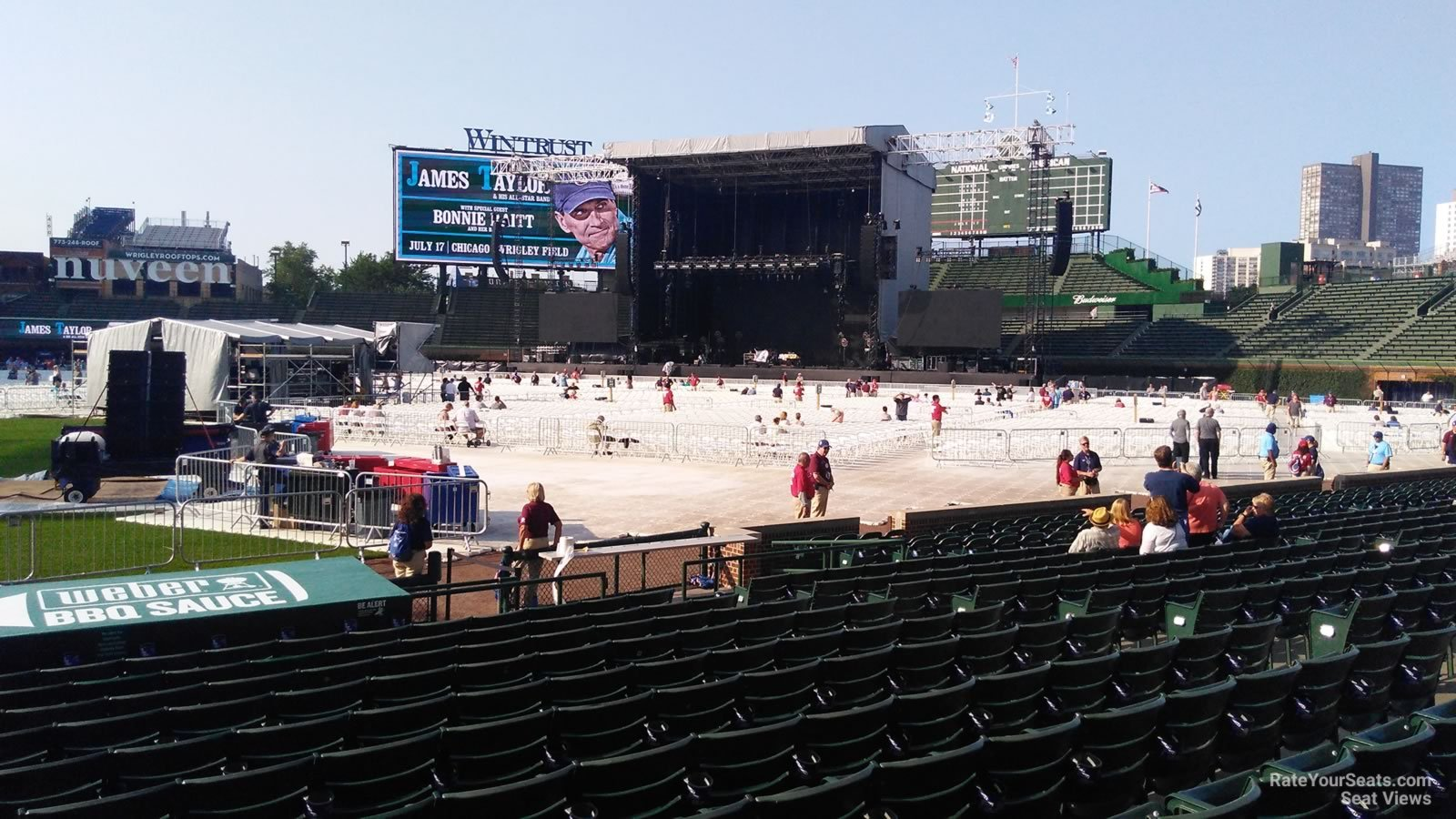 Concert Seat View for Wrigley Field Section 24, Row 10