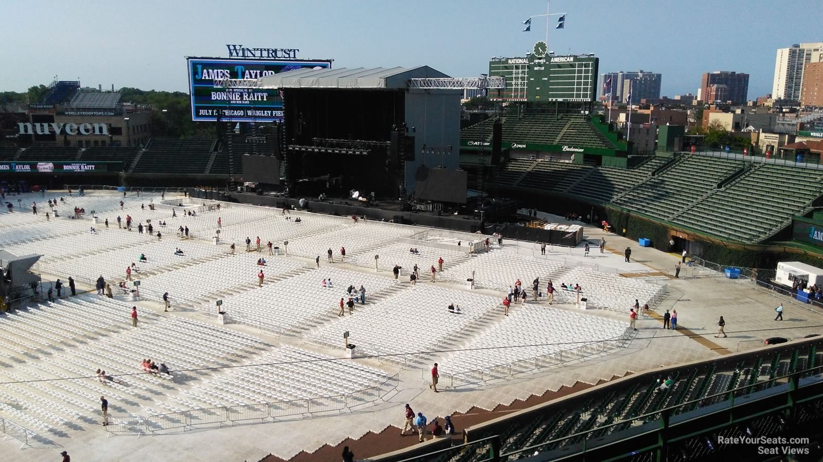 Concert Seat View for Wrigley Field Section 328, Row 5