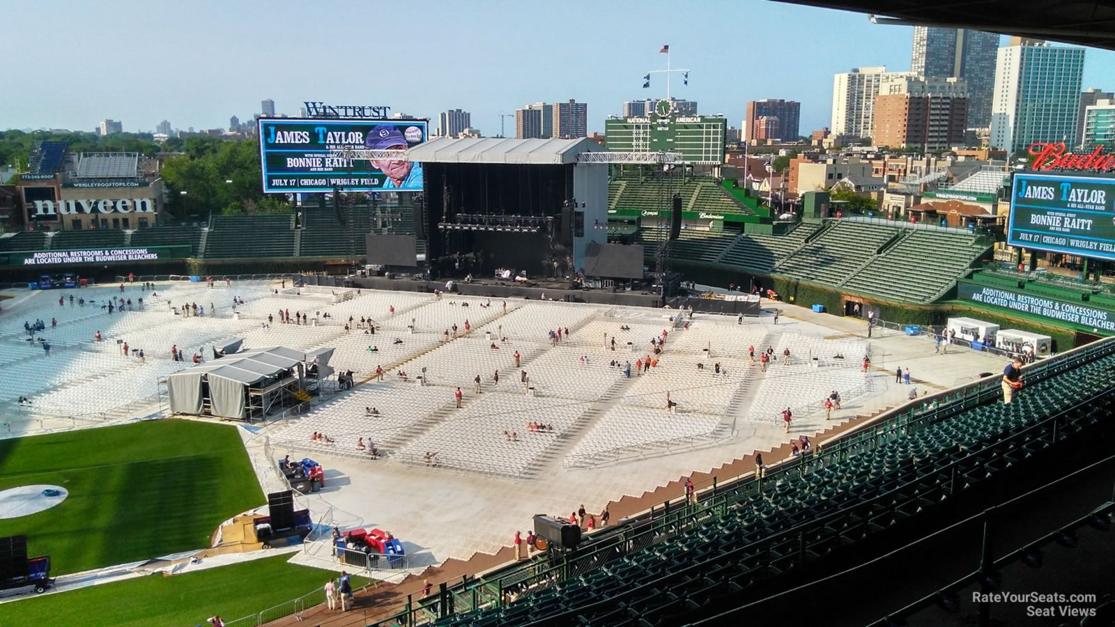 Concert Seat View for Wrigley Field Section 423, Row 4