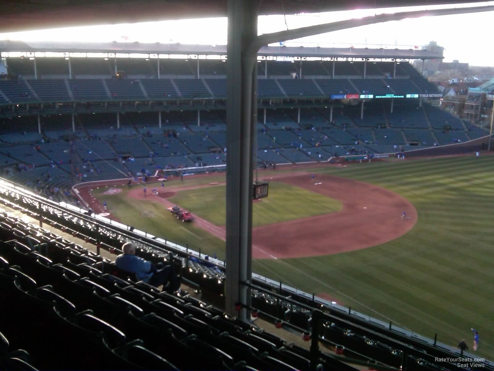 wrigley field section 536 chicago cubs rateyourseatscom