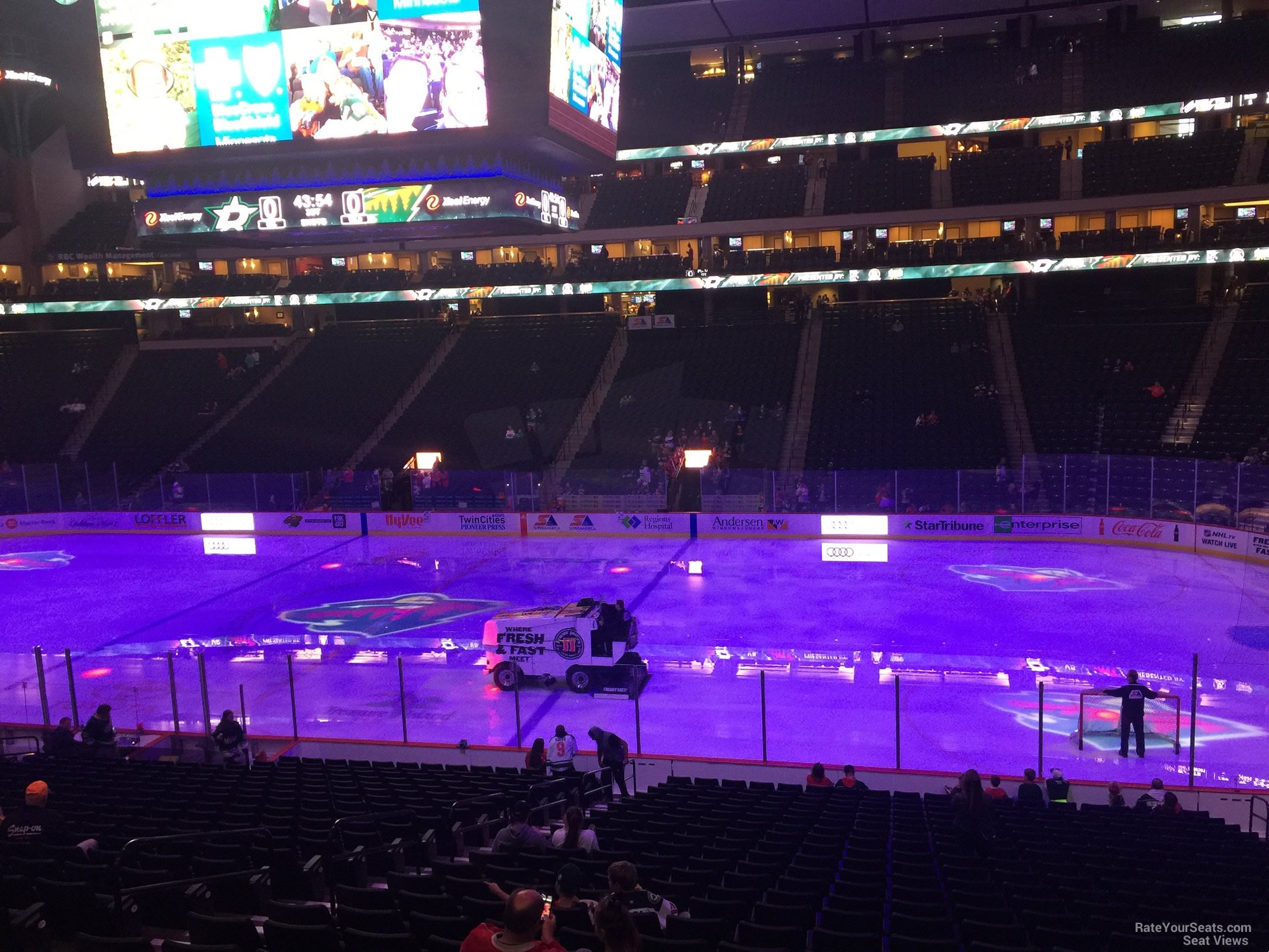 Seat View for Xcel Energy Center Section 102, Row 24