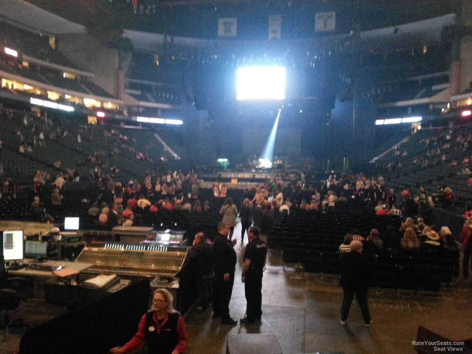 Concert Seat View for Xcel Energy Center Section 109 Row 10