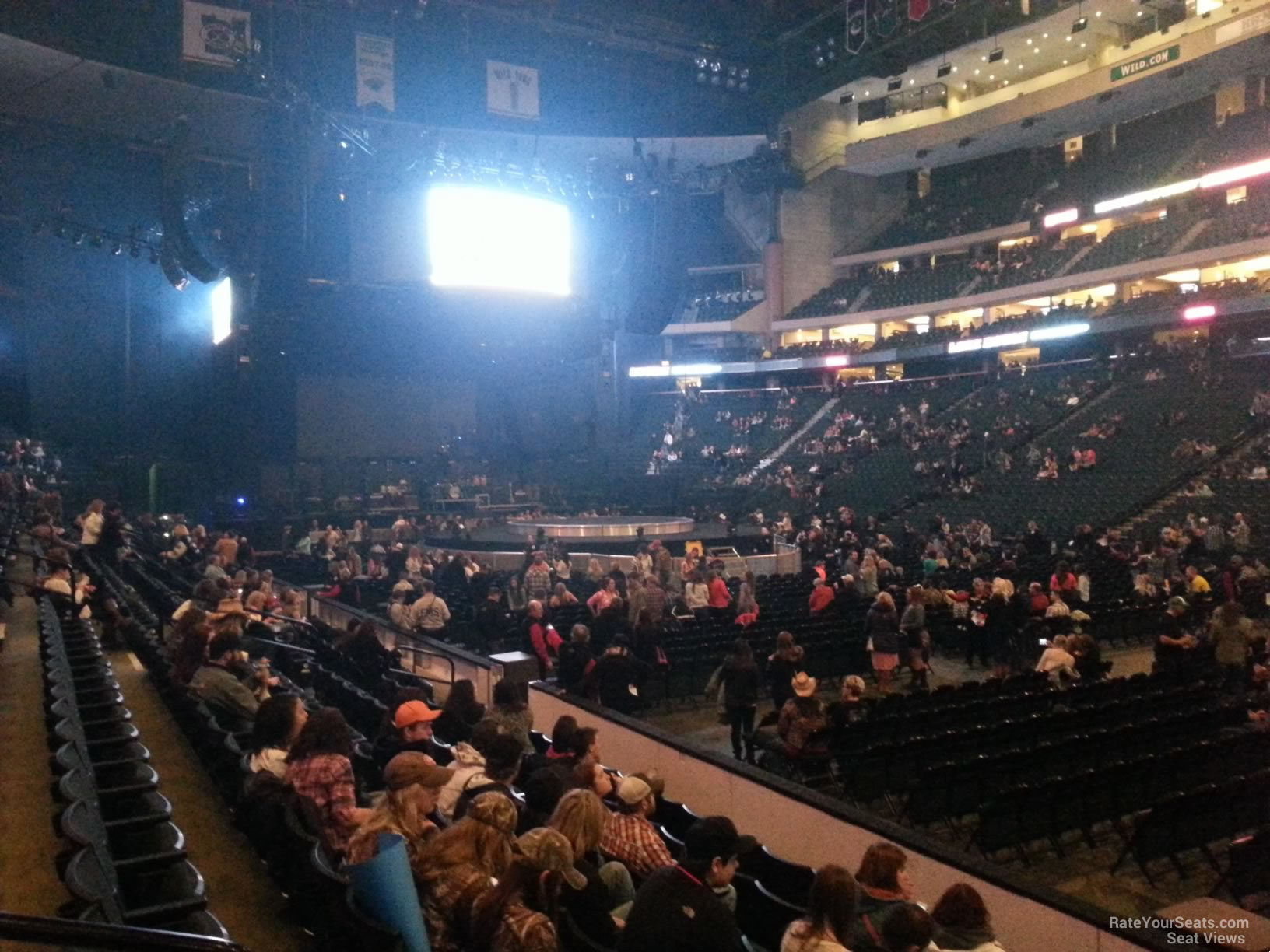 Concert Seat View for Xcel Energy Center Section 114