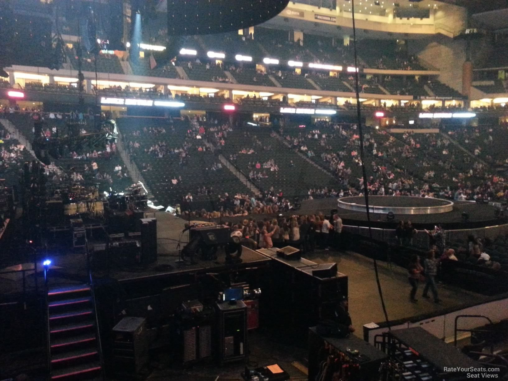 Concert Seat View for Xcel Energy Center Section 120