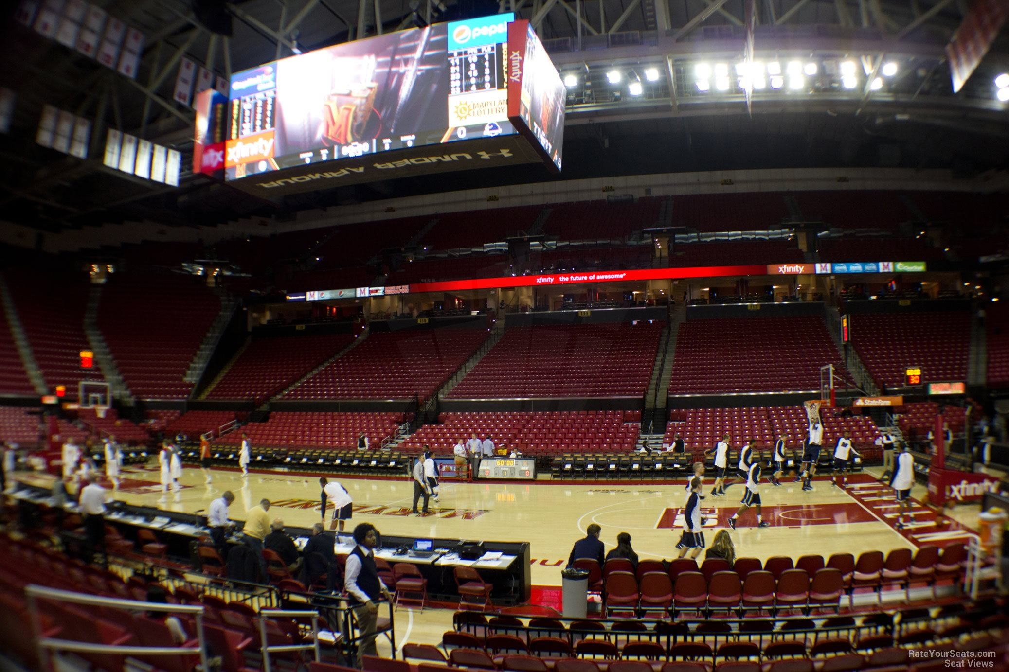 Seat View for Comcast Center Section 102, Row K