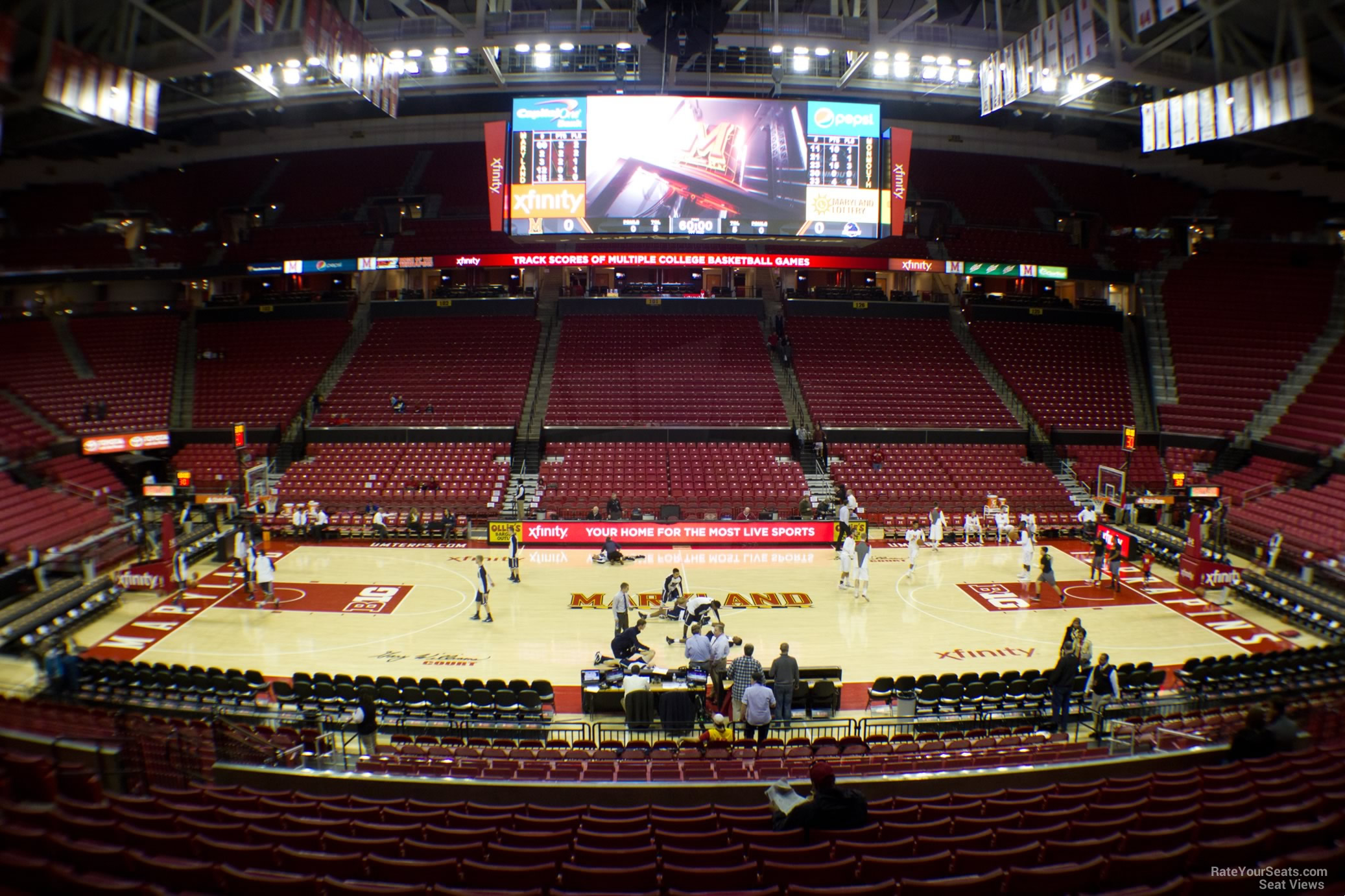 Seat View For Comcast Center Section 114
