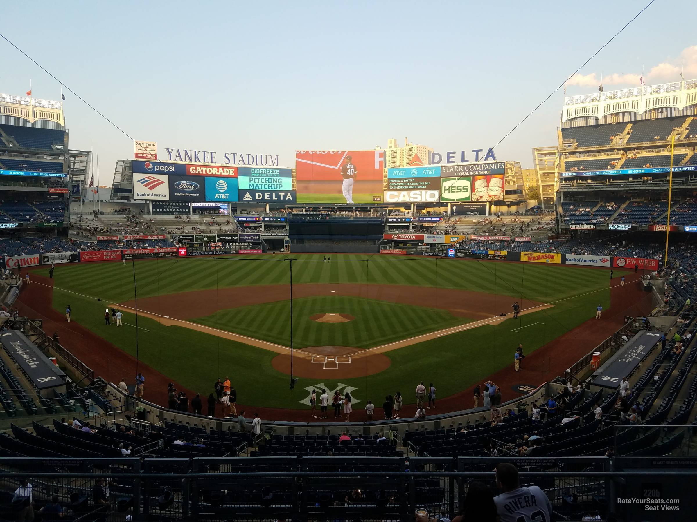New York Yankees Seat View for Yankee Stadium Section 220B, Row 7