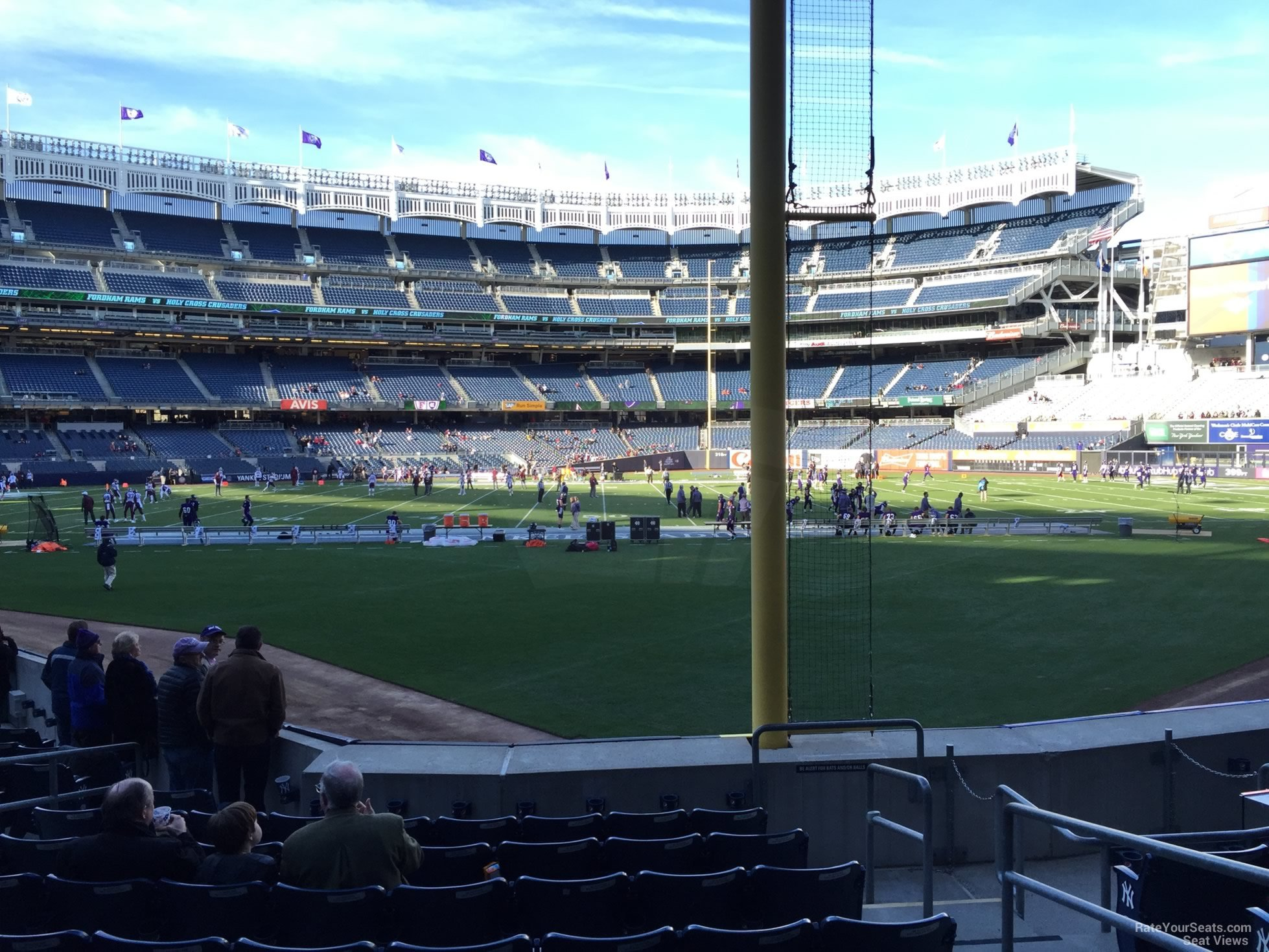 Football Seat View for Yankee Stadium Section 108, Row 10
